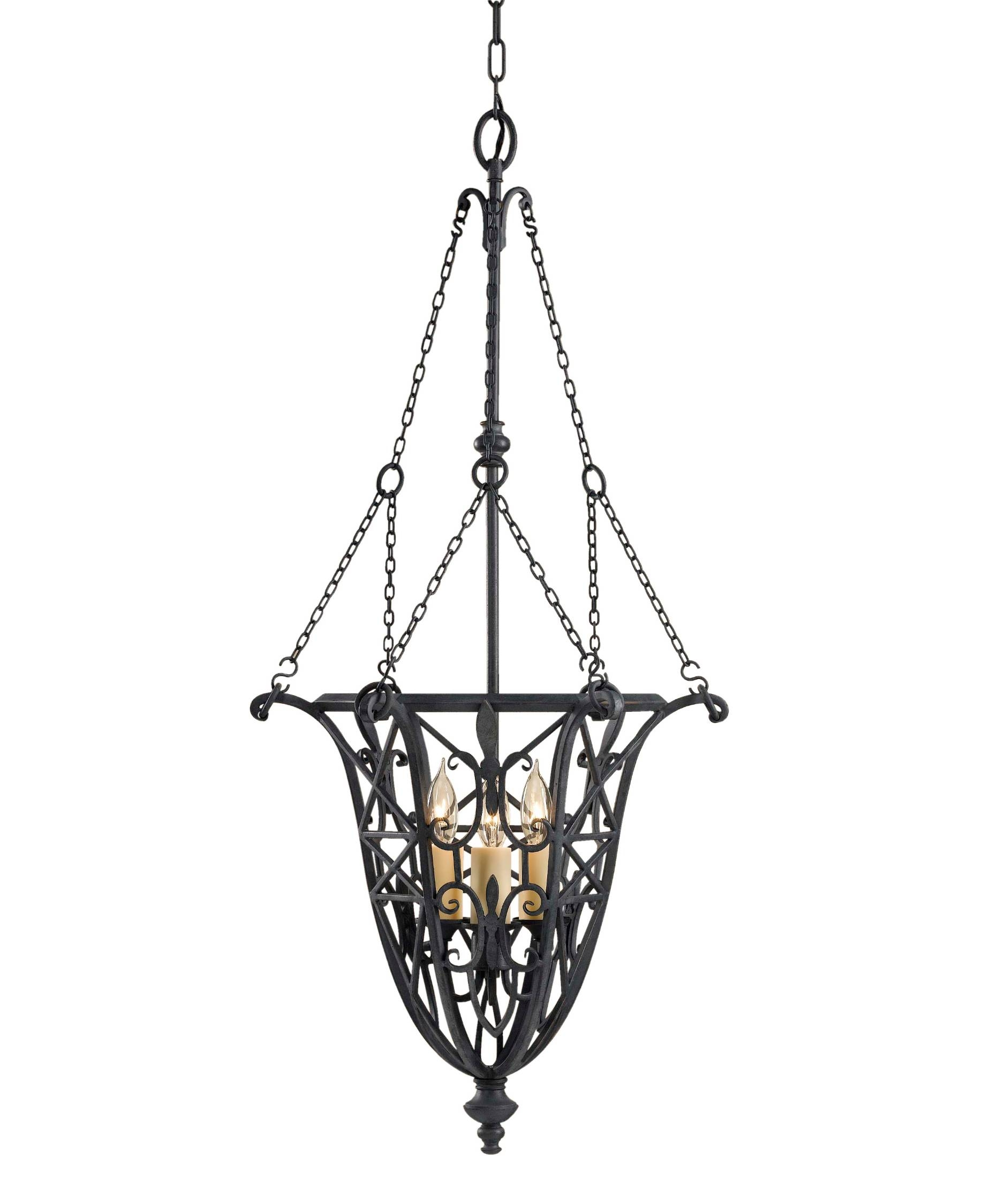 15 best collection of black wrought iron pendant lights