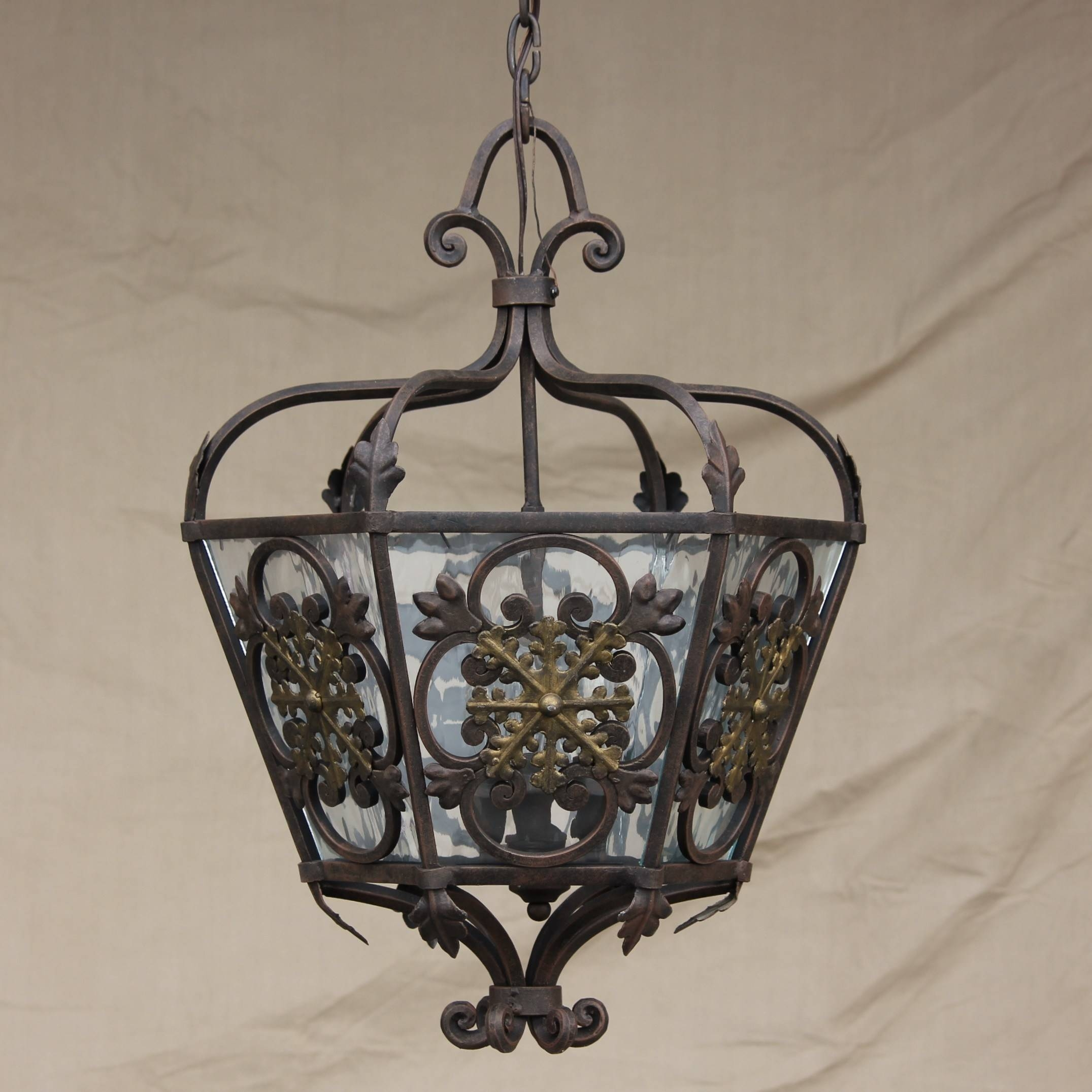 Wrought Iron Pendant Light – Aneilve pertaining to Wrought Iron Lights Pendants (Image 15 of 15)