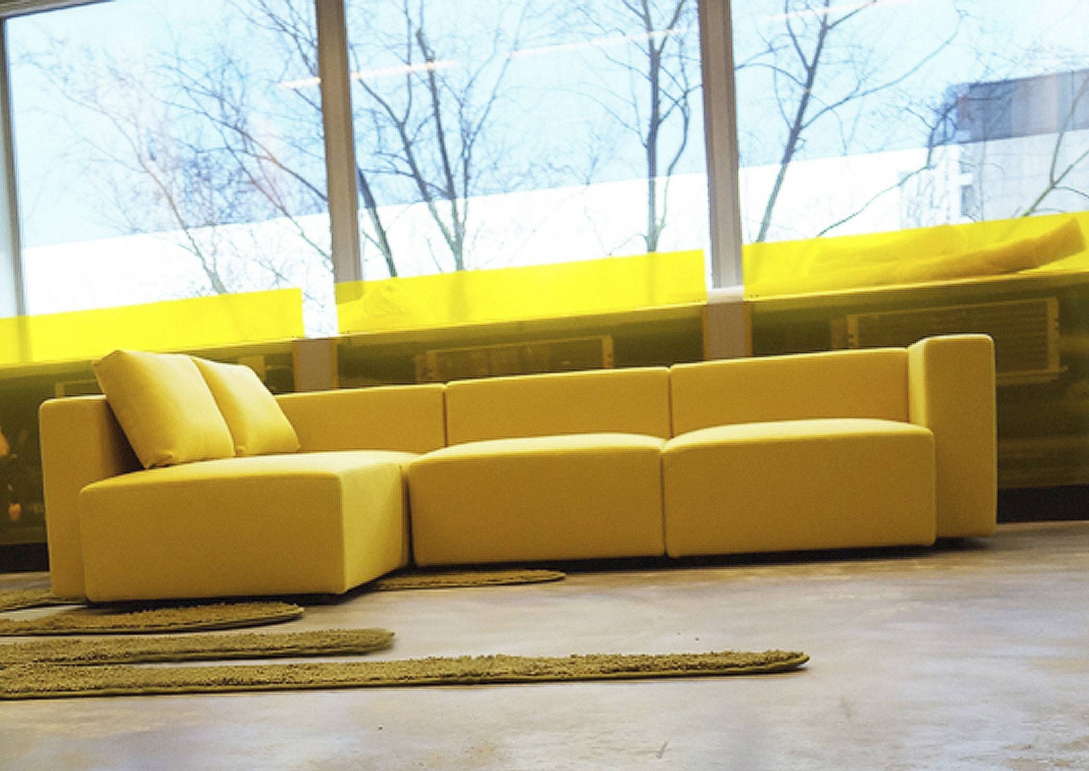 Yellow Leather Sofa Modern | Tehranmix Decoration With Regard To Yellow Sectional Sofas (Photo 10 of 15)