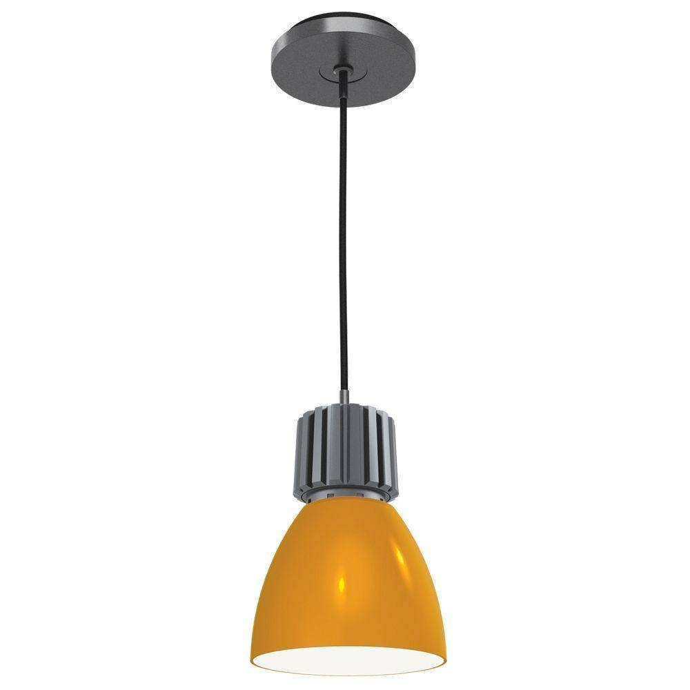 Yellow   Stainless Steel   Pendant Lights   Hanging Lights   The Throughout Stainless Steel Pendant Lights (Photo 10 of 15)