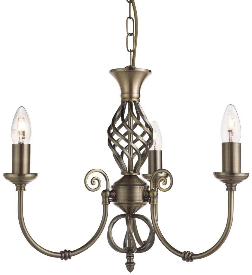 Zanzibar Antique Brass Wrought Iron 3 Light Fitting | Searchlight throughout Wrought Iron Lights Fittings (Image 15 of 15)