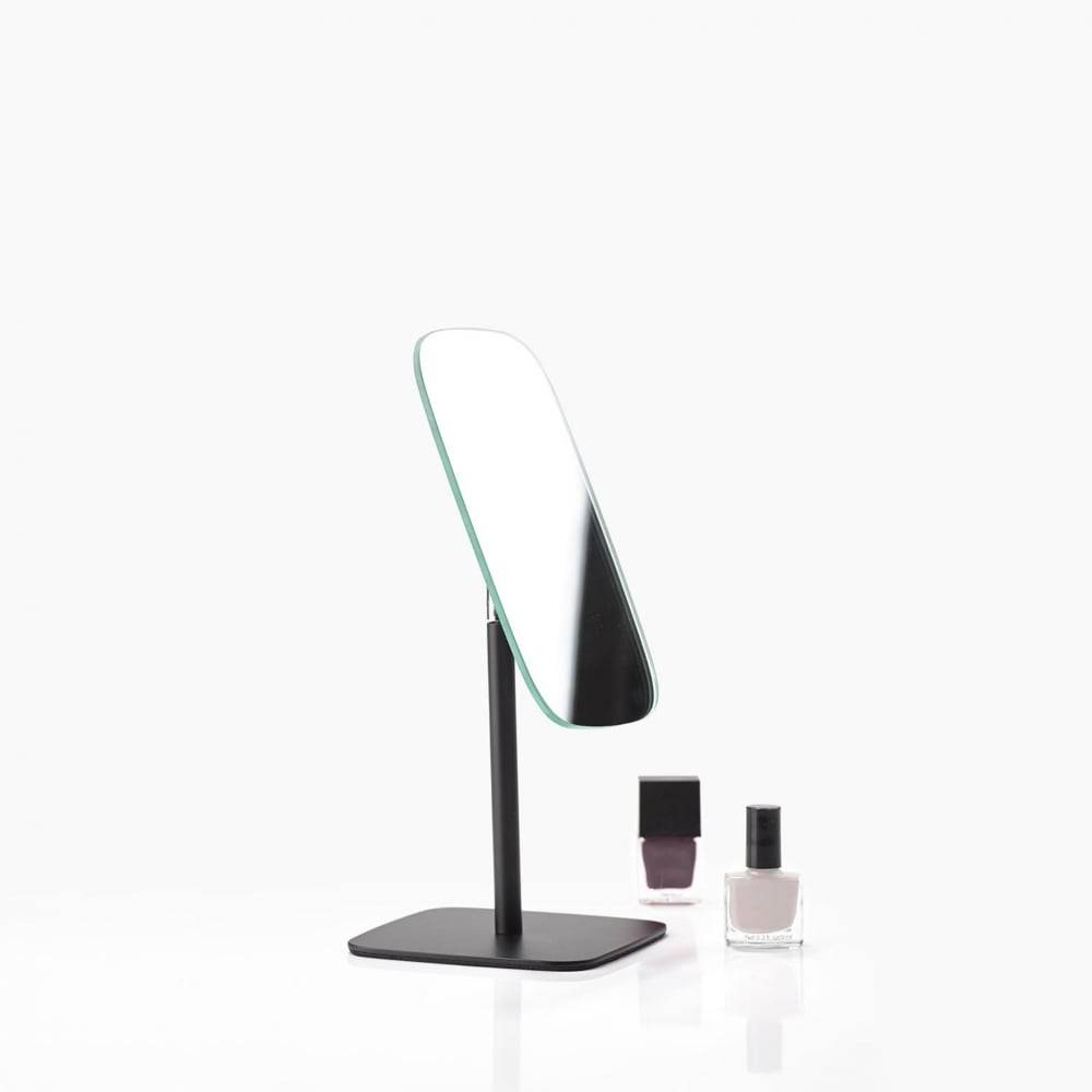 Zone Denmark Bathroom/dressing Table Mirror | Black | Blackdesign throughout Free Standing Table Mirrors (Image 14 of 15)
