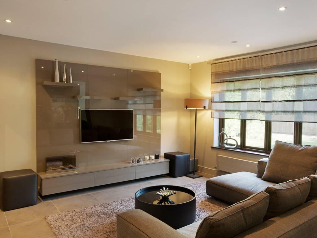 1 Bespoke Built In Fitted Tv Units Cabinets High Gloss Luxury For Bespoke Tv Cabinets (View 5 of 15)