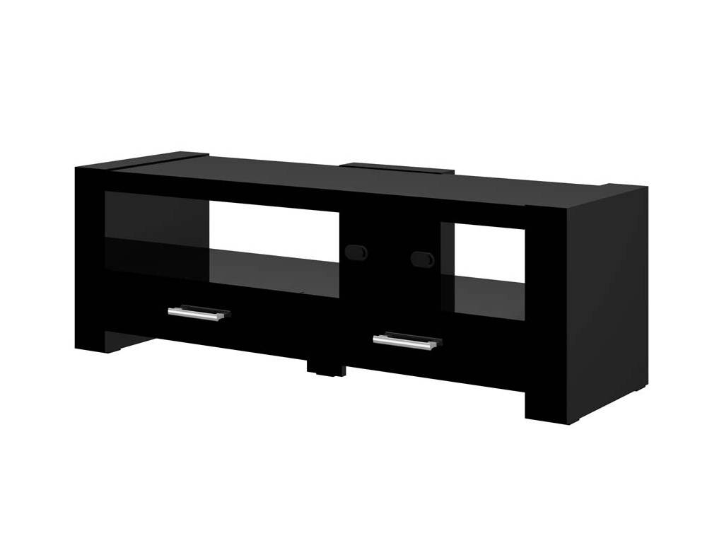 2 Black Tv Stand pertaining to Black Tv Cabinets With Drawers (Image 1 of 15)
