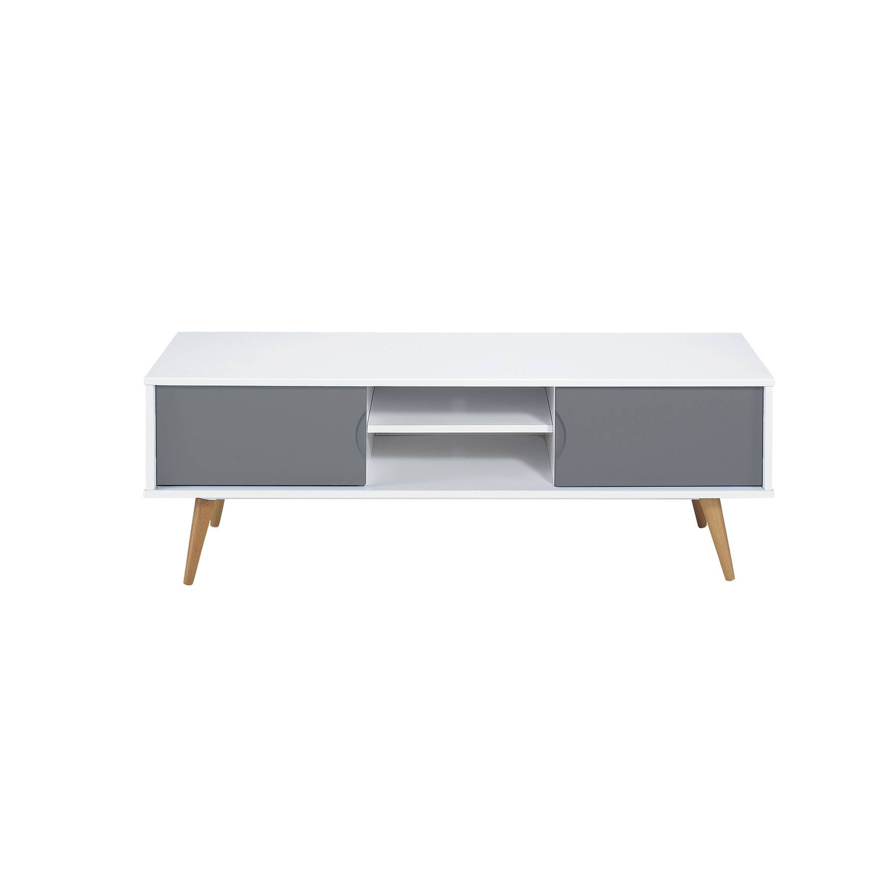 2 Drawer Low Vasby Tv Unit | Temple & Webster pertaining to Low Tv Units (Image 1 of 15)