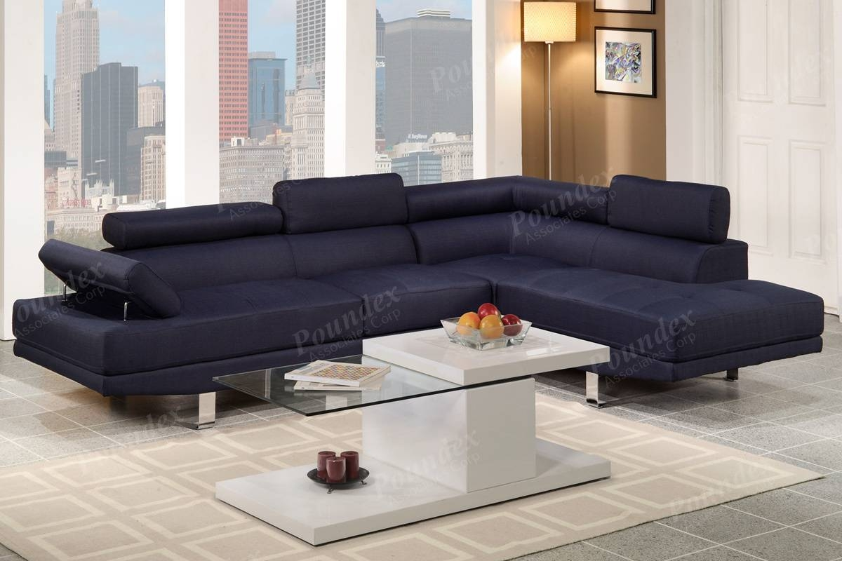 2-Pcs Sectional Sofa | Sectional Sofa | Living Room Furniture within Poundex Sofas (Image 2 of 15)