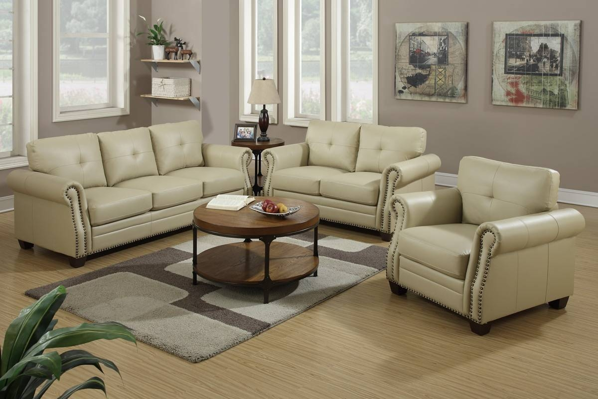 2 Piece Leather Sofa Setpoundex - F7784 - Huntington Beach regarding 2 Piece Sofas (Image 2 of 15)