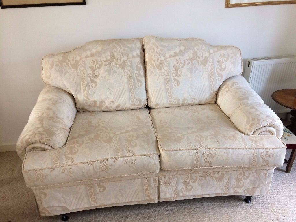 2 Seater Ivory Brocade Sofa Ideal For Bridal Shop | In Haywards with Brocade Sofas (Image 1 of 15)