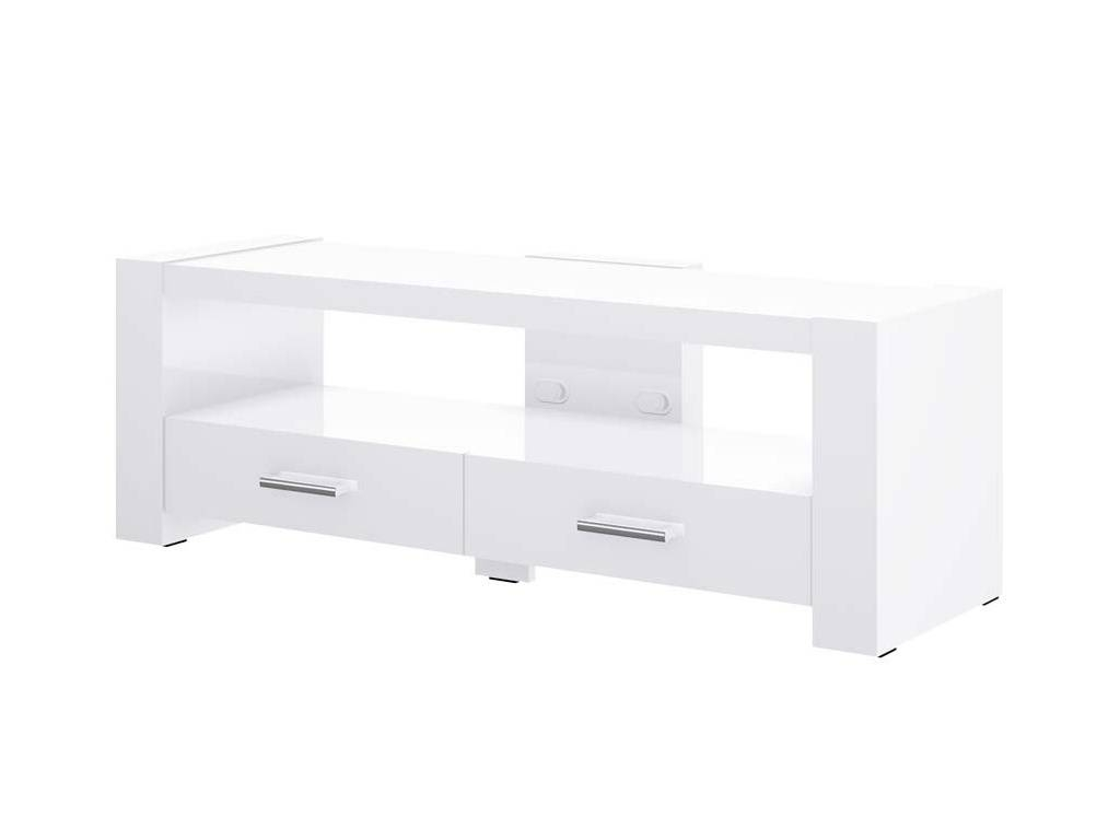 2 White Tv Stand inside Long White Tv Cabinets (Image 2 of 15)