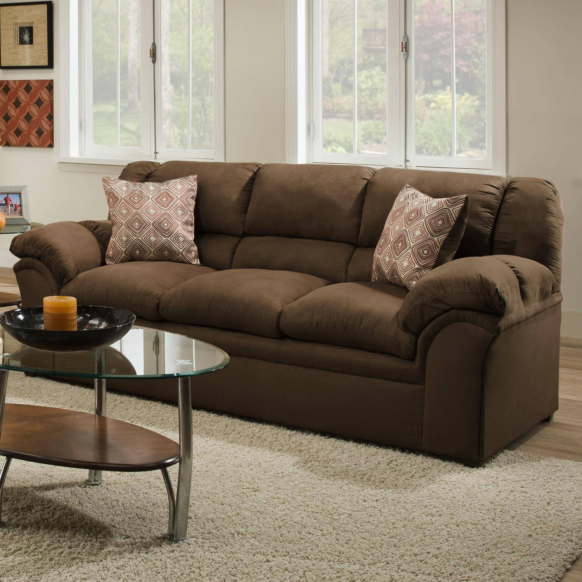 20+ Choices Of Simmons Microfiber Sofas | Sofa Ideas pertaining to Simmons Microfiber Sofas (Image 4 of 15)