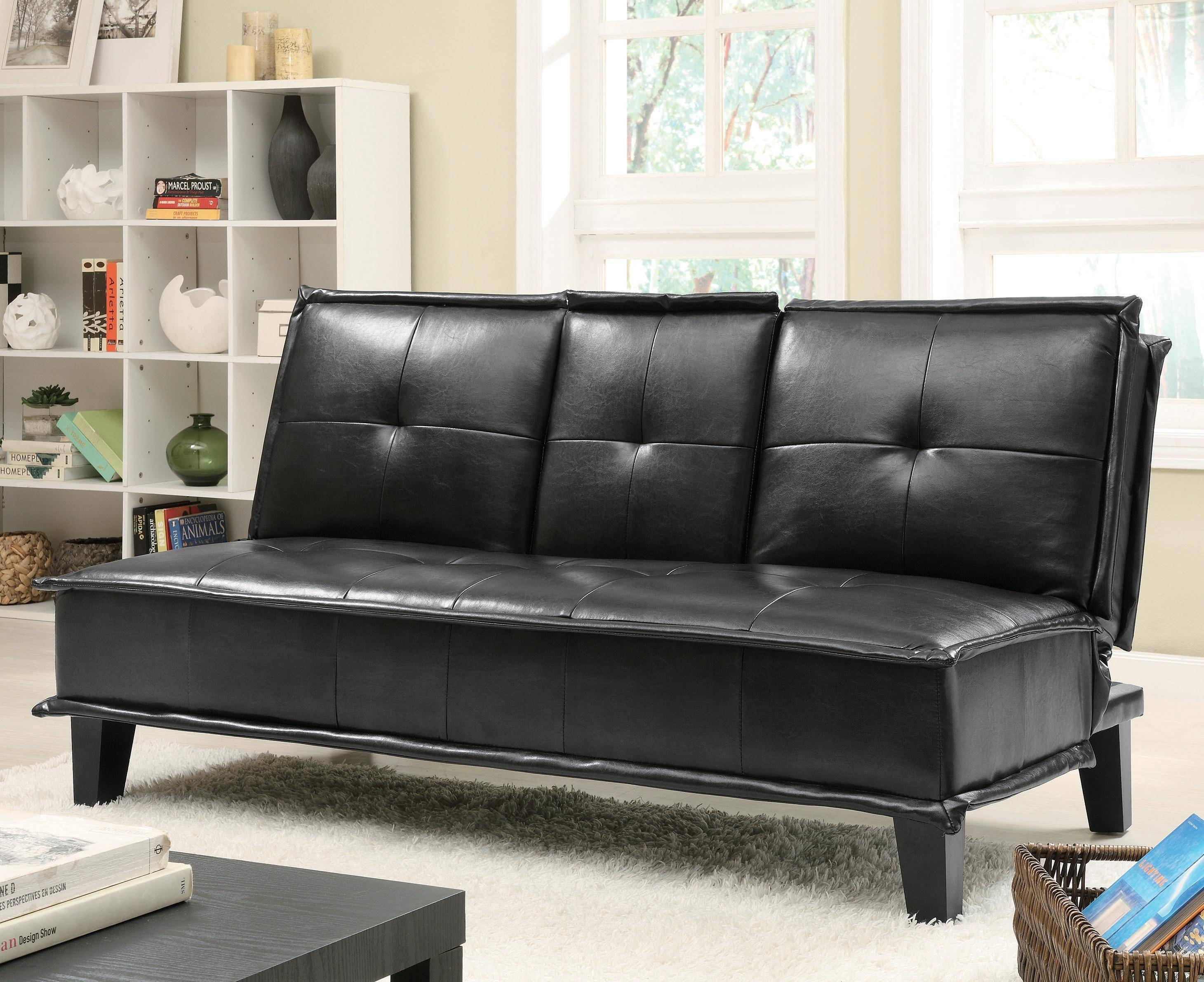 20 Ideas Of Black Vinyl Sofas | Sofa Ideas with Black Vinyl Sofas (Image 3 of 15)