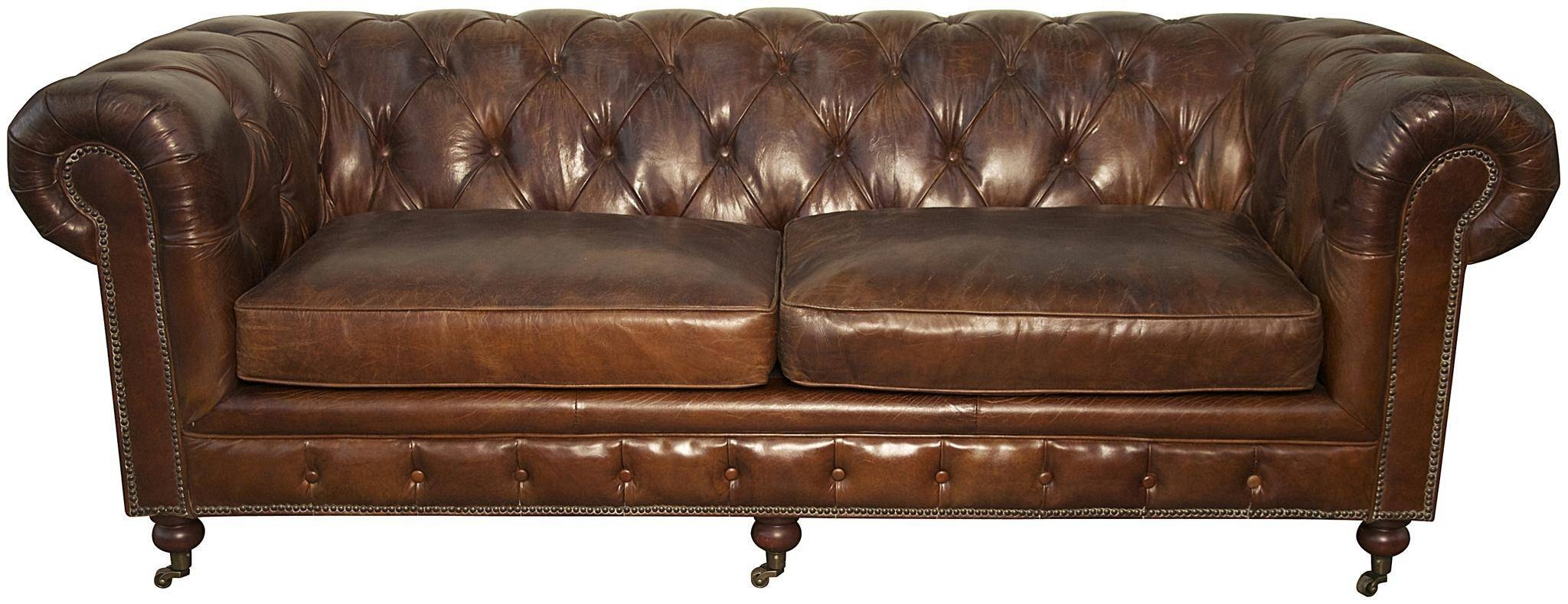 20 Top Brown Tufted Sofas | Sofa Ideas with Brown Leather Tufted Sofas (Image 2 of 15)