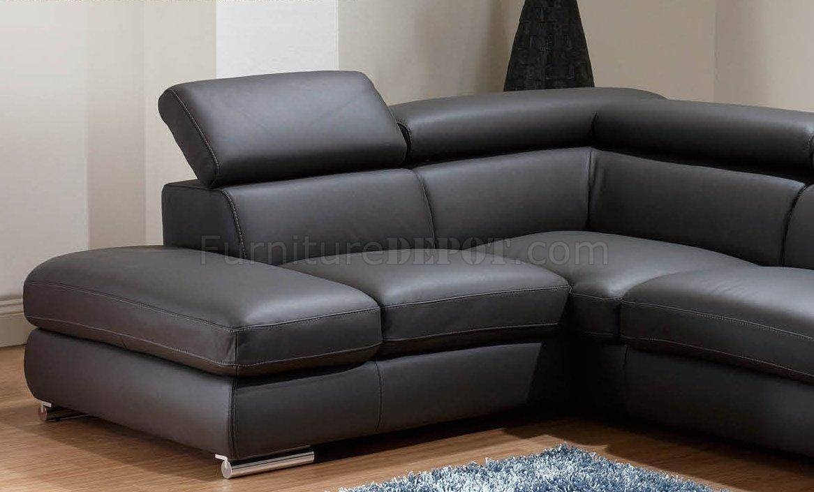 Featured Photo of Charcoal Grey Leather Sofas