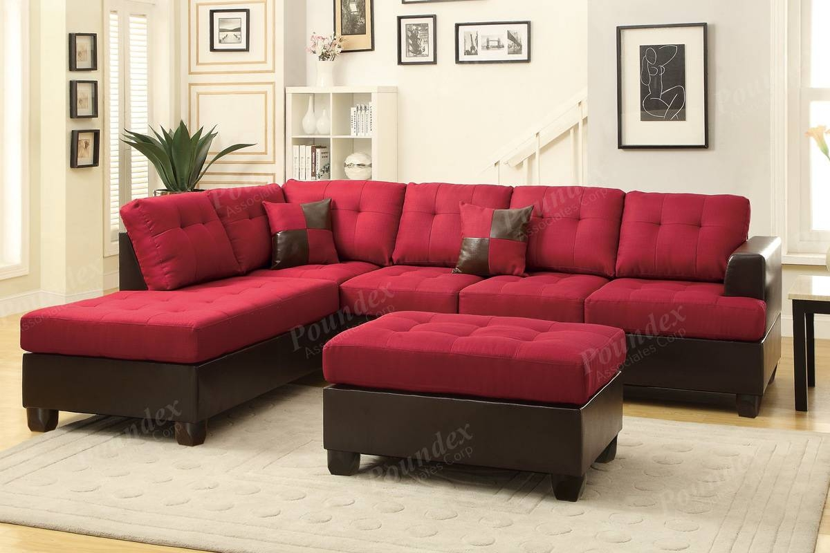 3-Pcs Sectional Set | Sectional Sofa | Bobkona Furniture regarding Poundex Sofas (Image 3 of 15)