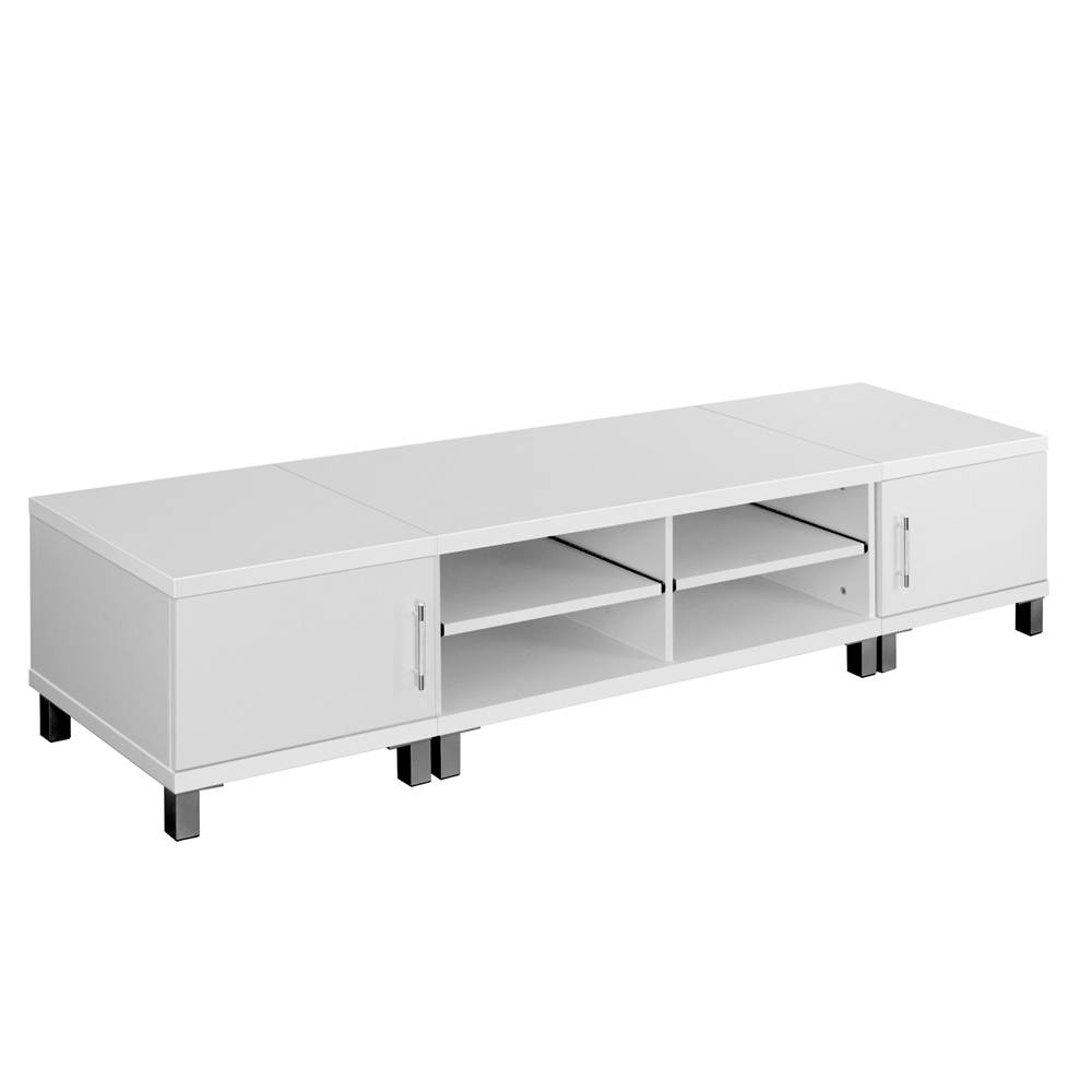 3 Piece Tv Entertainment Unit Set In White 190Cm | Buy White Tv Units with regard to Corner Tv Unit White Gloss (Image 1 of 15)