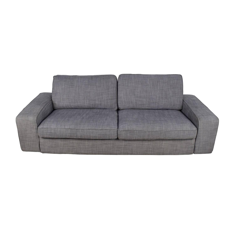 39% Off - Atmore Atmore Chocolate Corduroy Three-Cushion Sofa / Sofas throughout Gray Sofas (Image 2 of 15)