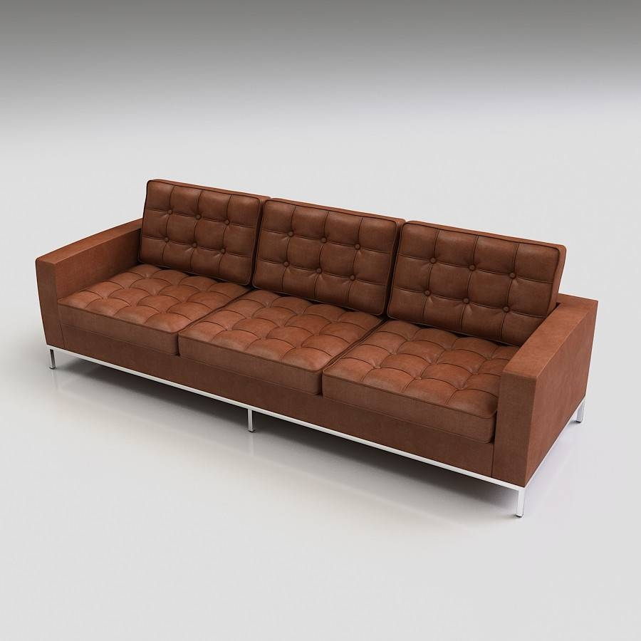 3D Florence Knoll Sofa - High Quality 3D Models with Florence Knoll Sofas (Image 1 of 15)