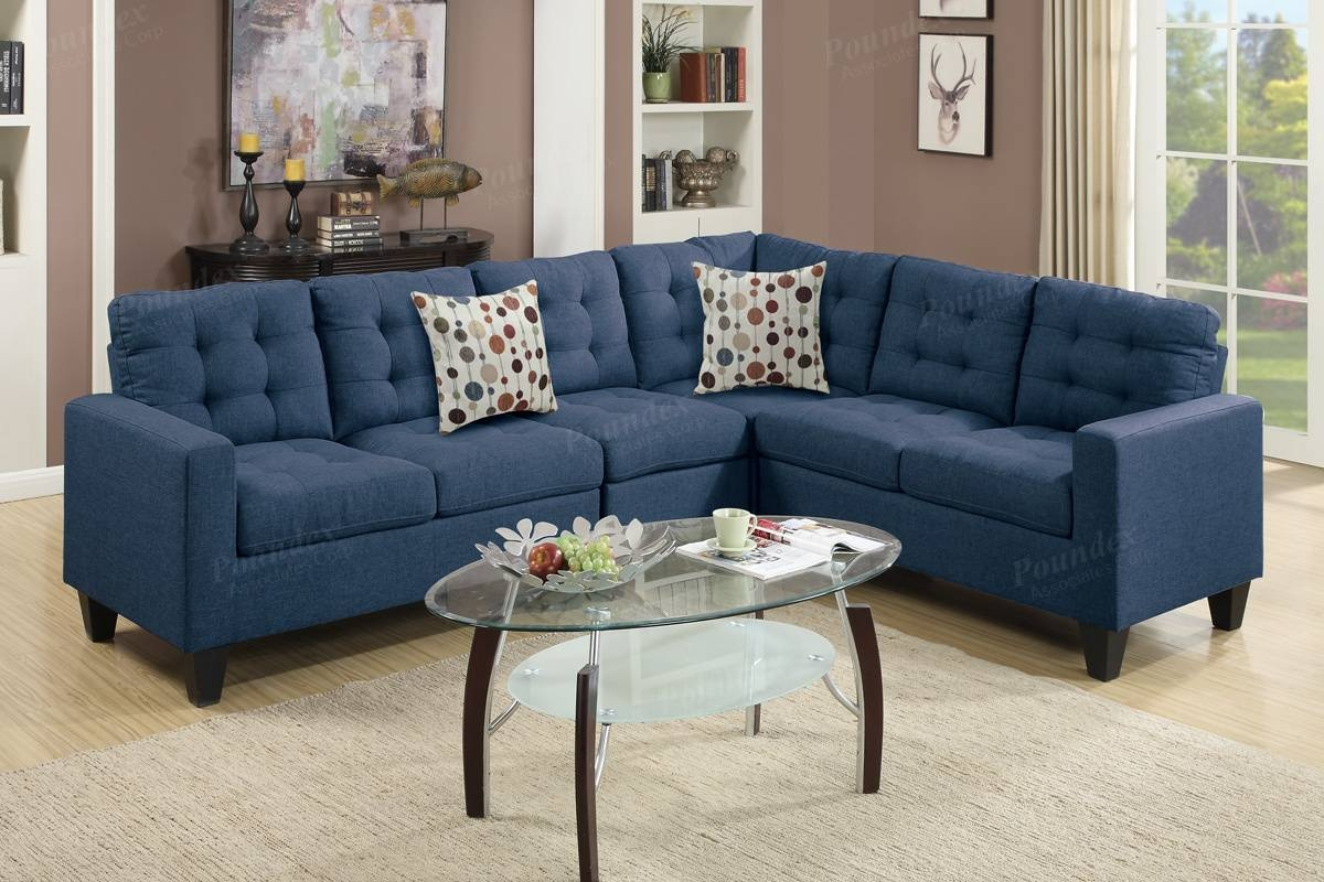4-Pcs Modular Sectional | Modular Sectional / Sofa | Bobkona within Poundex Sofas (Image 5 of 15)
