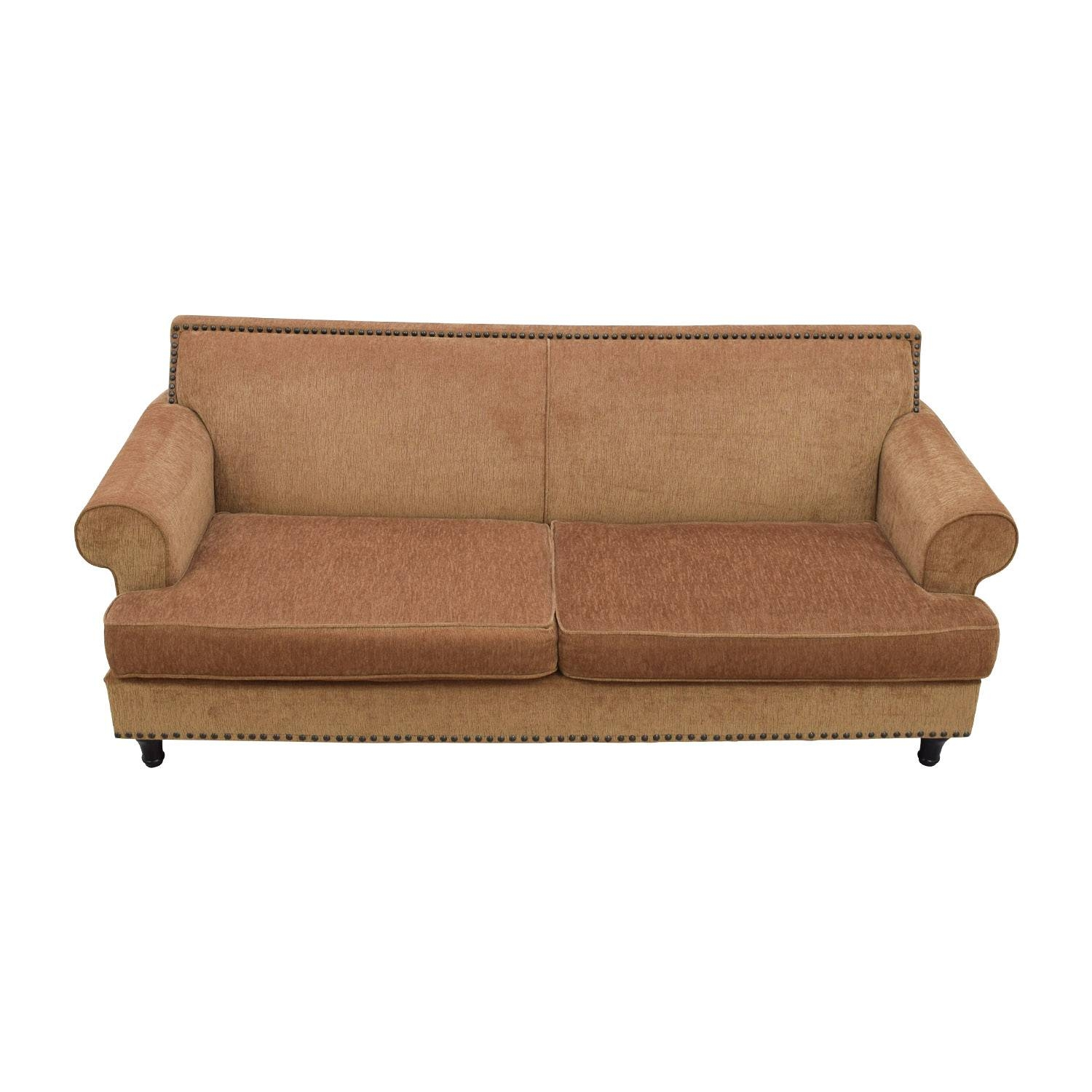 41% Off - Pier 1 Imports Pier 1 Imports Carmen Brown Sofa / Sofas inside Pier One Carmen Sofas (Image 4 of 15)