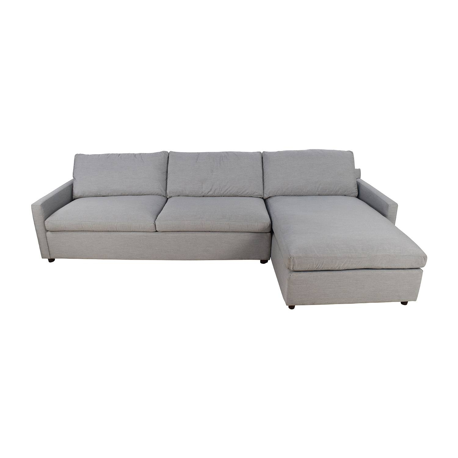 44% Off – Macy's Macy's Modern Concepts Charcoal Gray Corduroy Intended For Cobble Hill Sofas (View 1 of 15)