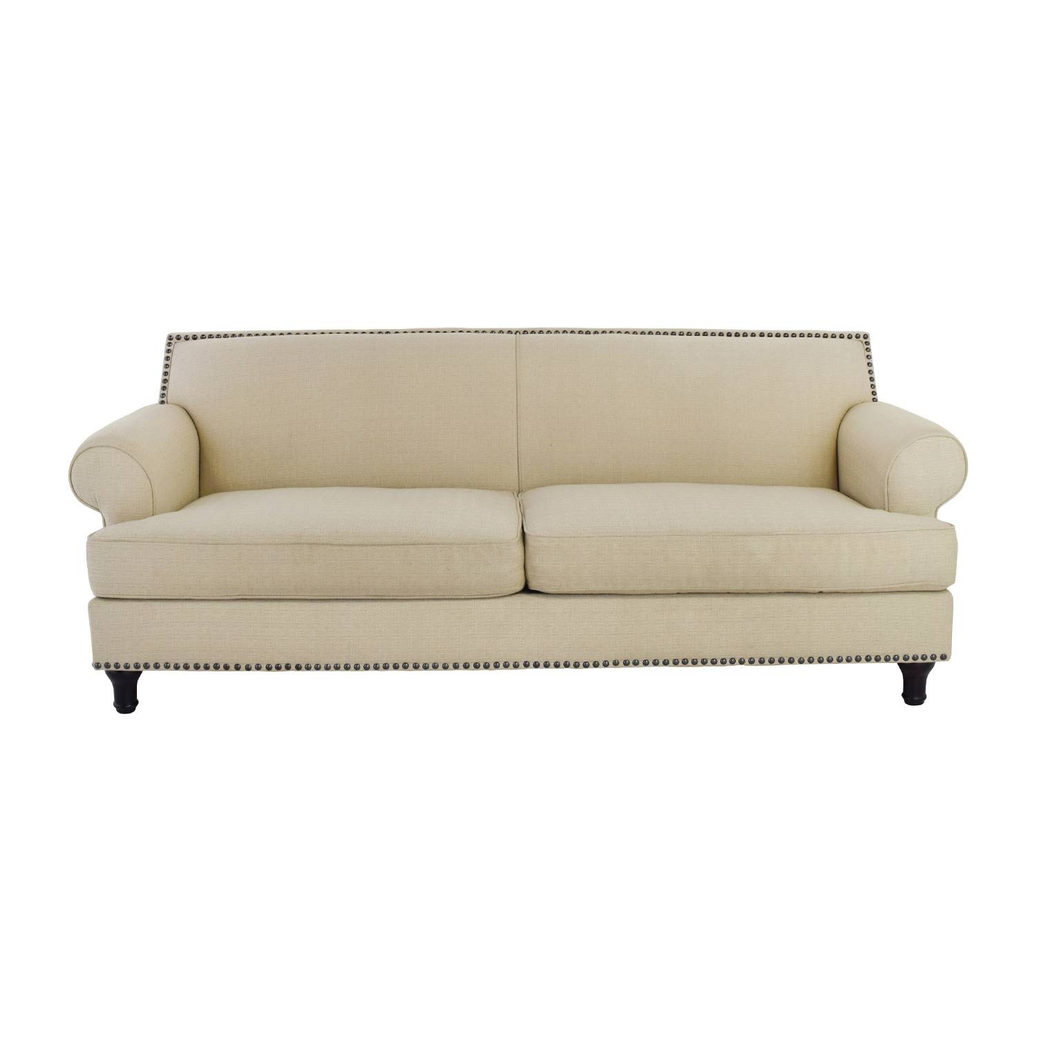 48% Off - Pier 1 Pier 1 Carmen Tan Couch With Studs / Sofas in Pier One Carmen Sofas (Image 5 of 15)