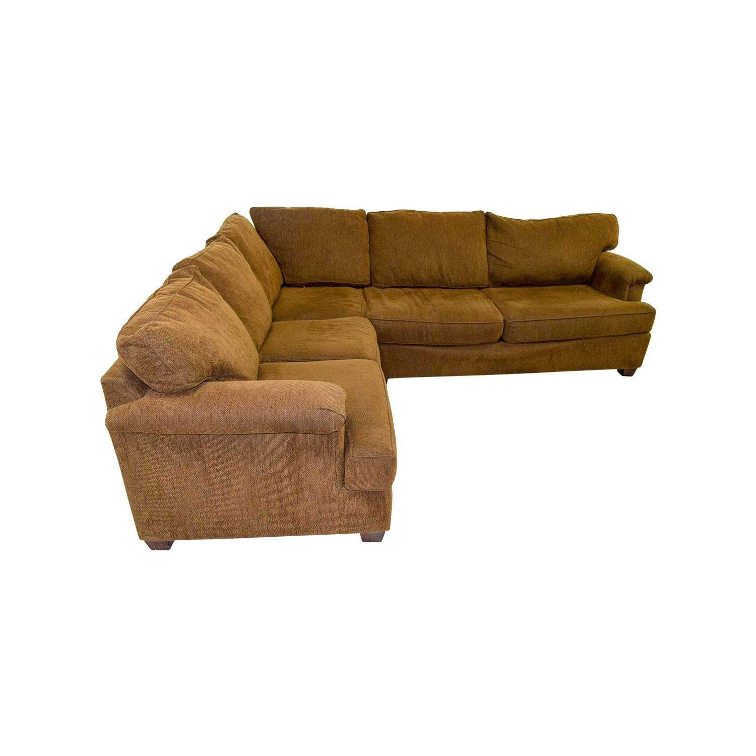 49% Off - Bloomingdale's Bloomingdale's Brown Corner Sectional / Sofas with regard to Bloomingdales Sofas (Image 1 of 15)