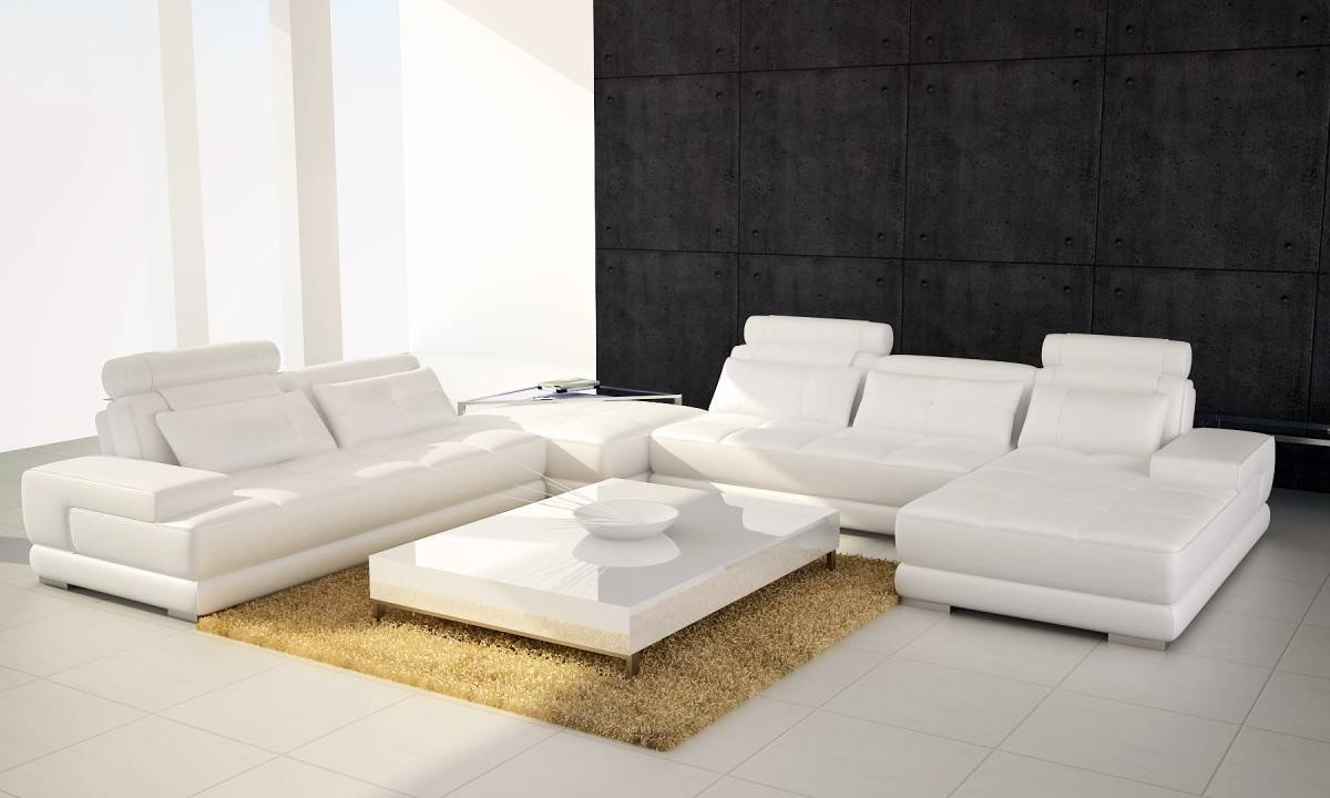 5005 Modern Brown Leather Sectional Sofa with Contemporary Brown Leather Sofas (Image 2 of 15)