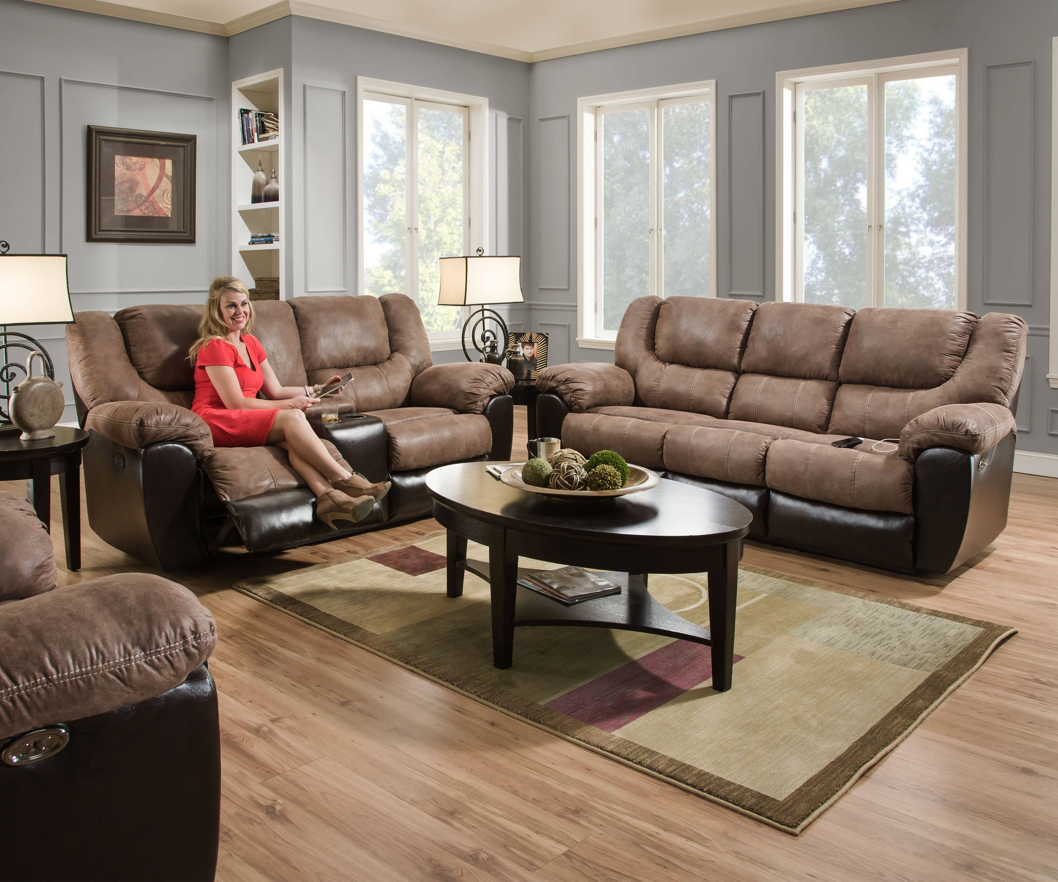 50431   United Furniture Industries With Simmons Sofas And Loveseats (Photo 6 of 15)