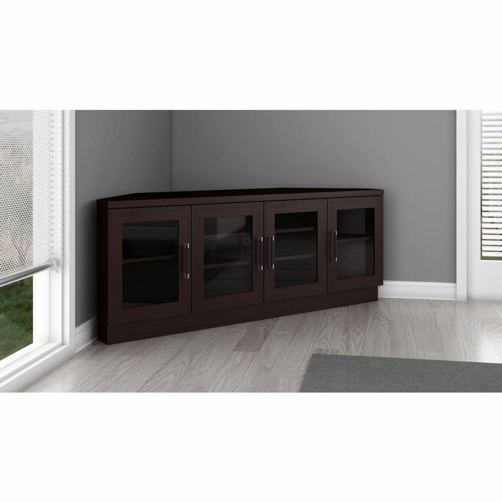 "60"" Contemporary Corner Tv Stand Media Console For Flat Screen And in Contemporary Corner Tv Stands (Image 1 of 15)"
