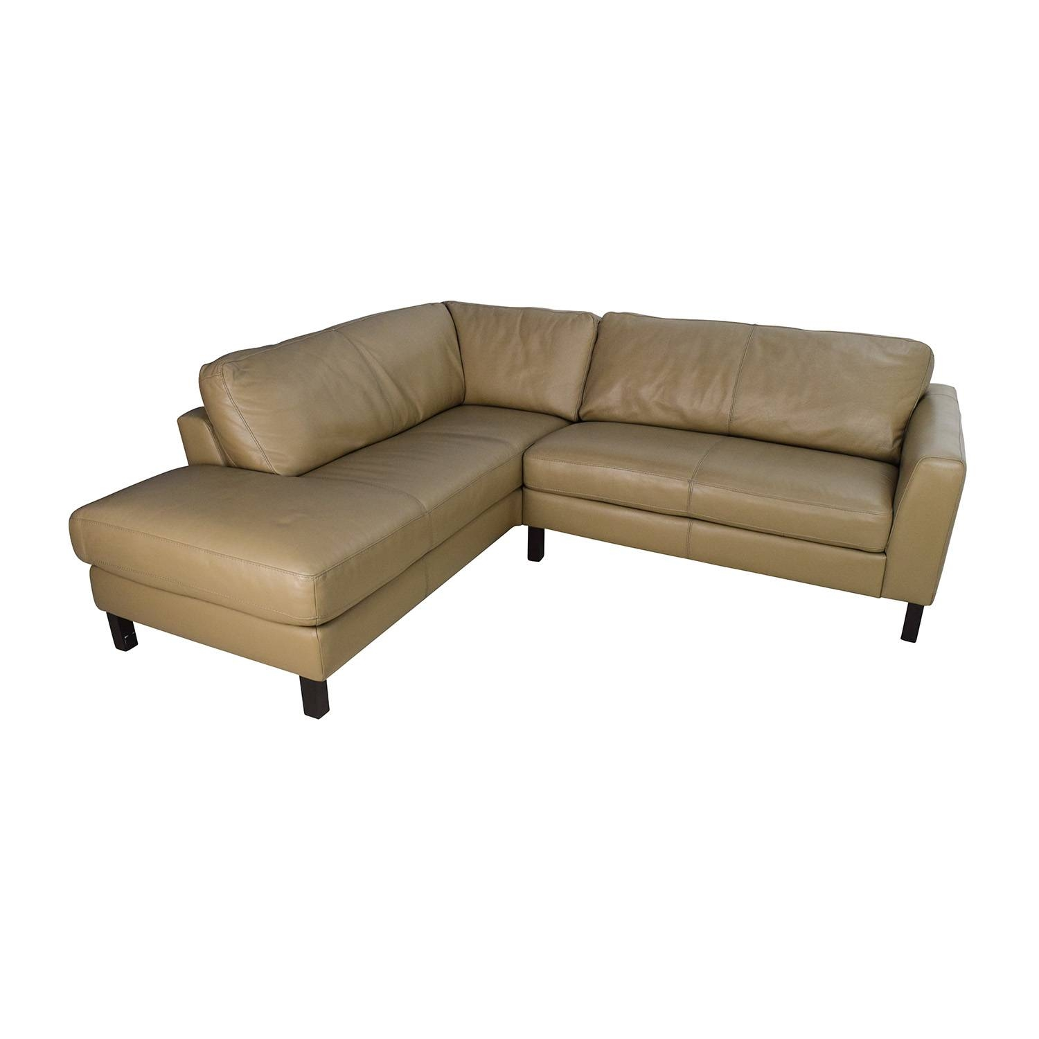 65% Off - Bloomingdales Bloomingdales Leather Sectional / Sofas regarding Bloomingdales Sofas (Image 4 of 15)