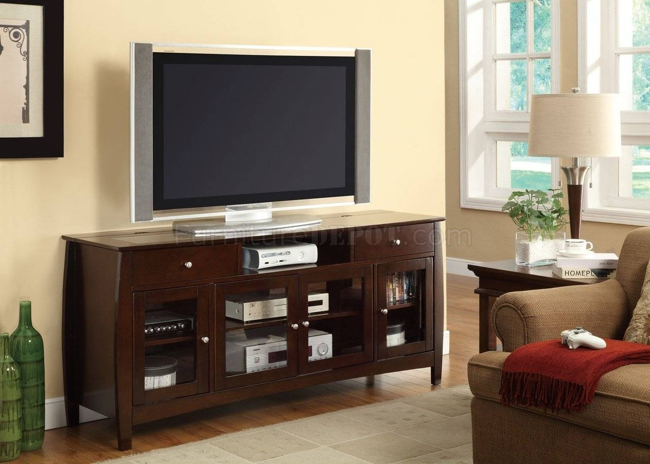 700693 Tv Stand In Dark Oakcoaster Inside Dark Walnut Tv Stands (View 11 of 15)