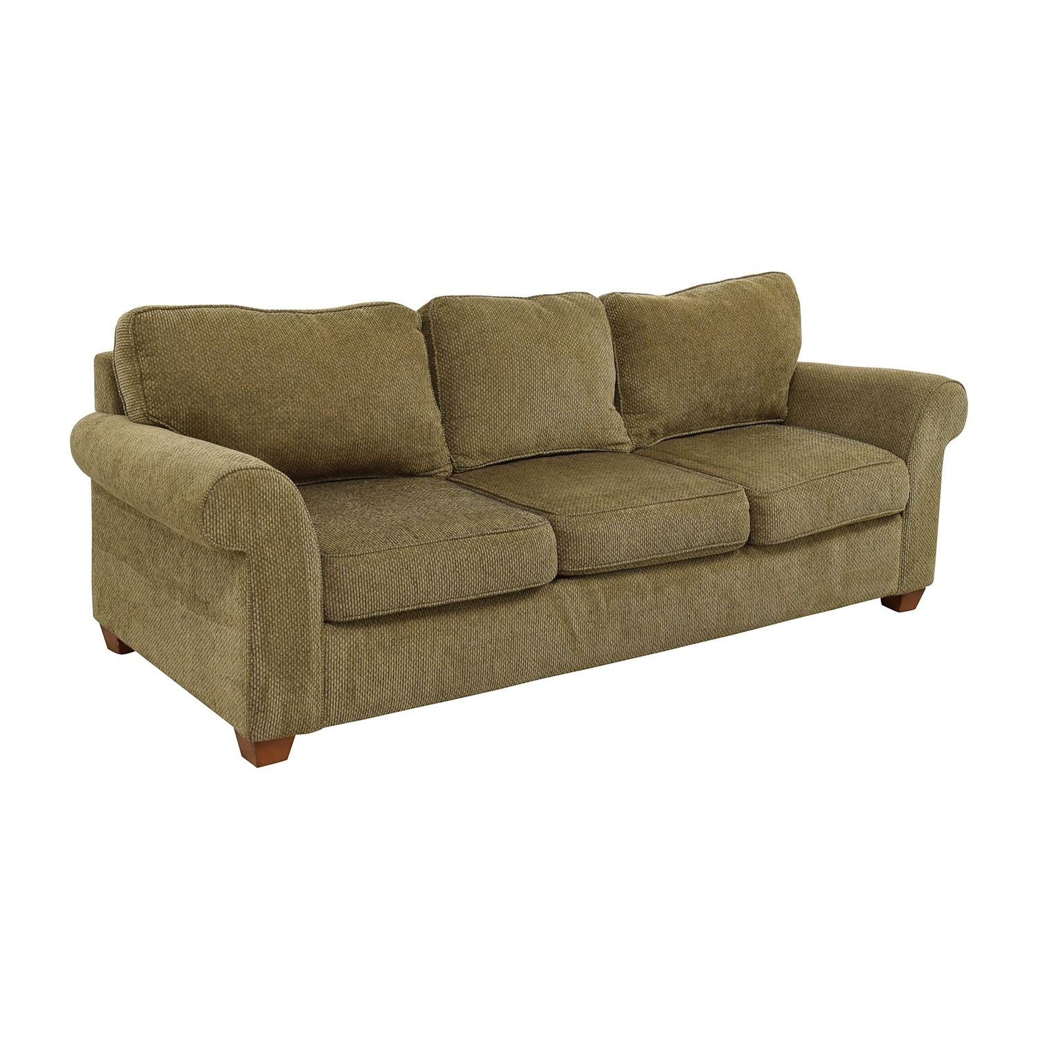 81% Off - Bloomingdale's Bloomingdale's Beige Tweed Fabric Sofa inside Bloomingdales Sofas (Image 5 of 15)