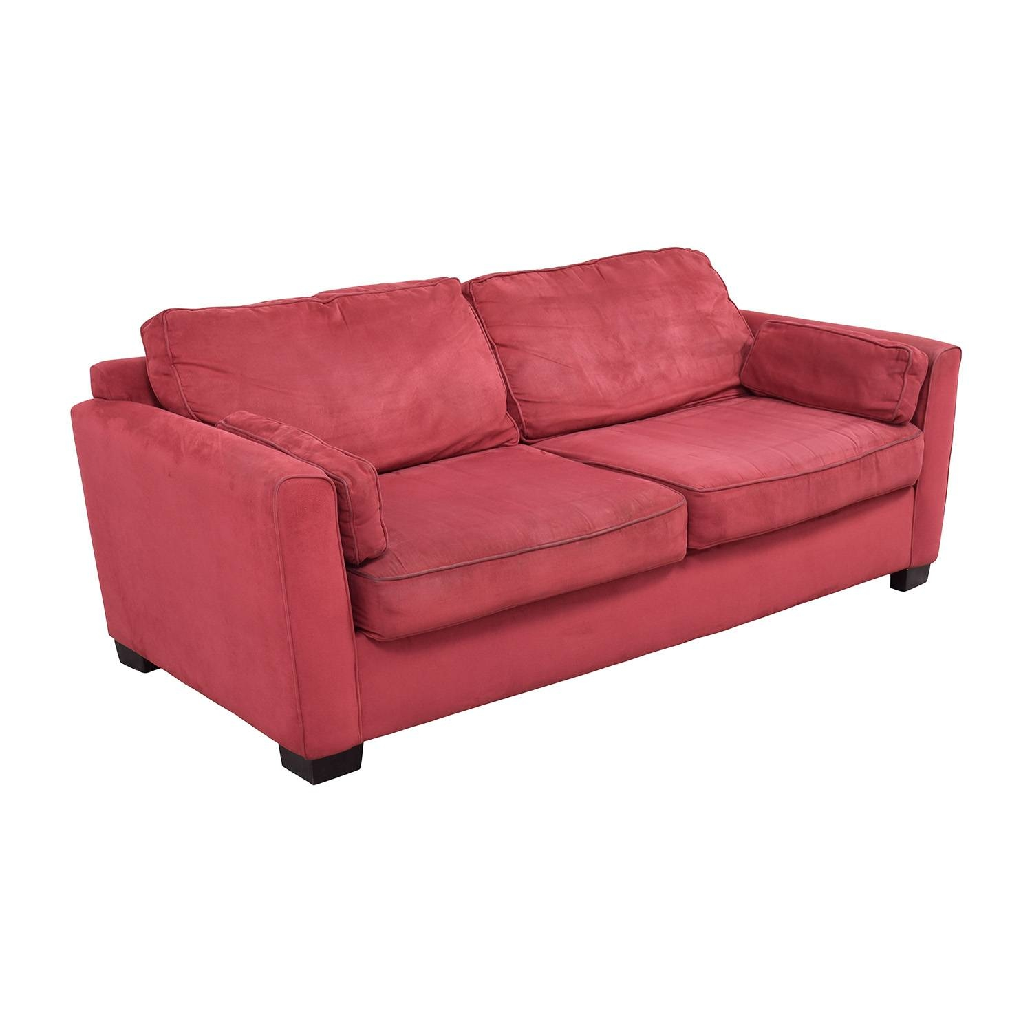 90% Off - Bloomingdales Bloomingdale's Classic Low Profile Red regarding Bloomingdales Sofas (Image 10 of 15)