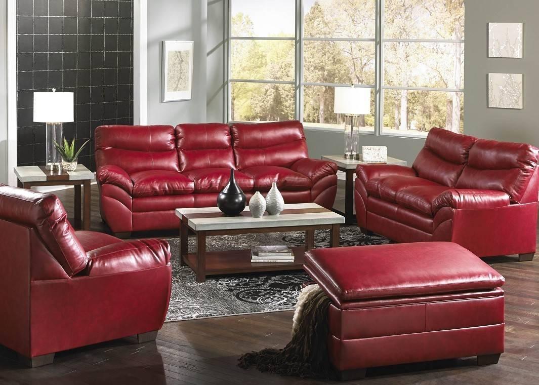 9515-03 Soho Cardinal Sofa for Simmons Leather Sofas (Image 1 of 15)