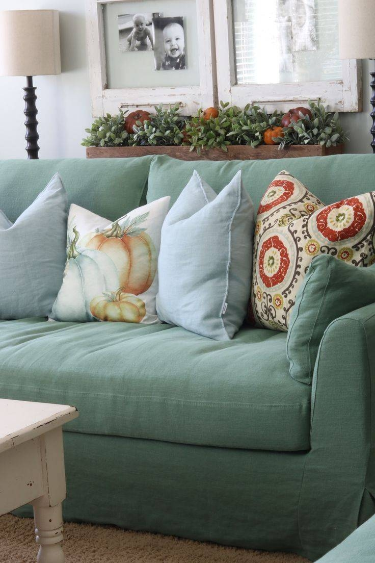 98 Best : Shabby Chic : Images On Pinterest | Chair Covers Throughout Shabby Chic Sofa Slipcovers (View 2 of 15)