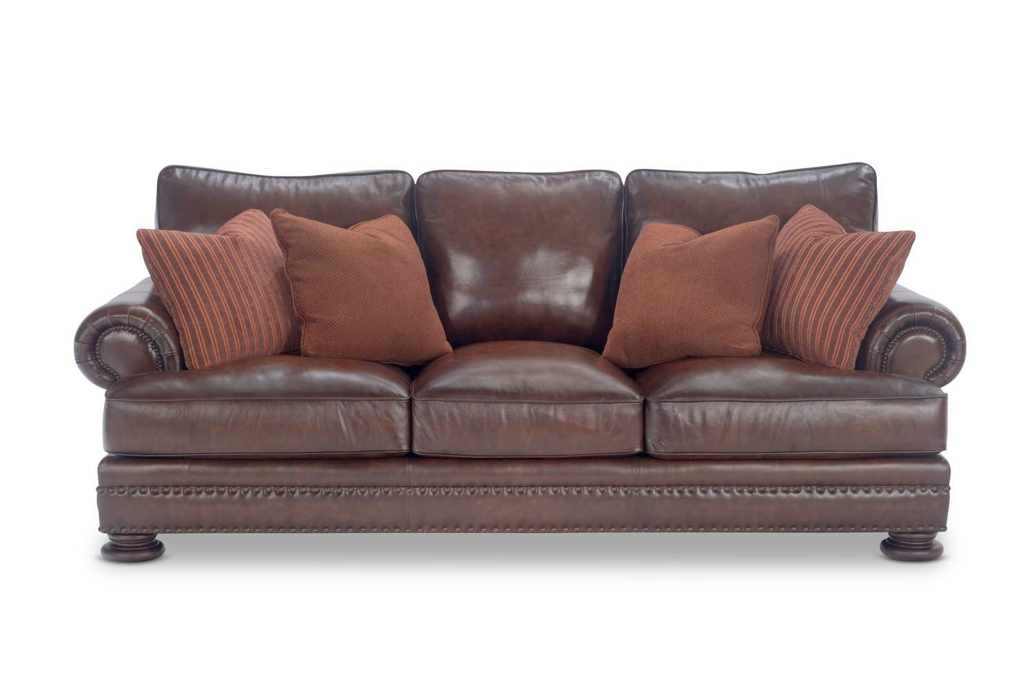 98″ Foster Elite Leather Sofabernhardt | Hom Furniture throughout Foster Leather Sofas (Image 5 of 15)