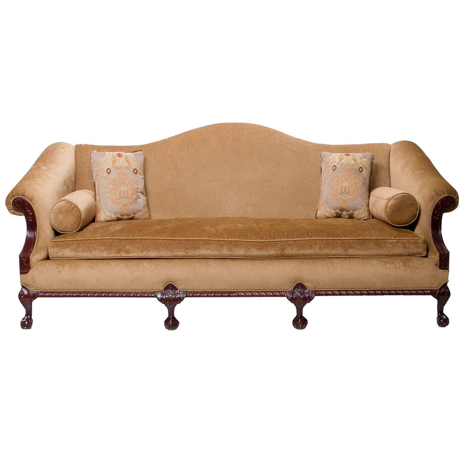 A Vintage Chippendale Camel Back Sofa » Northgate Gallery Antiques pertaining to Chippendale Camelback Sofas (Image 3 of 15)