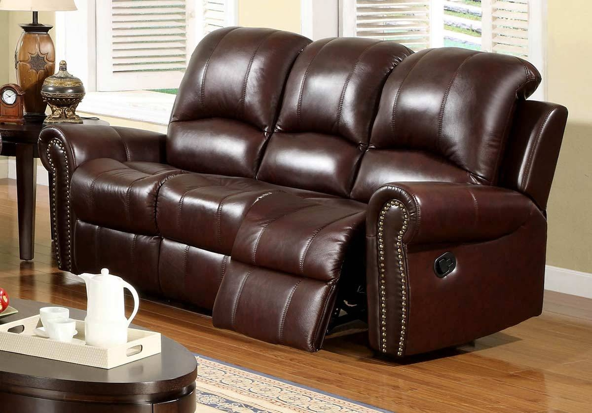 Abbyson Living Broadway 2-Pc Reclining Italian Leather Sofa And pertaining to Italian Recliner Sofas (Image 2 of 15)
