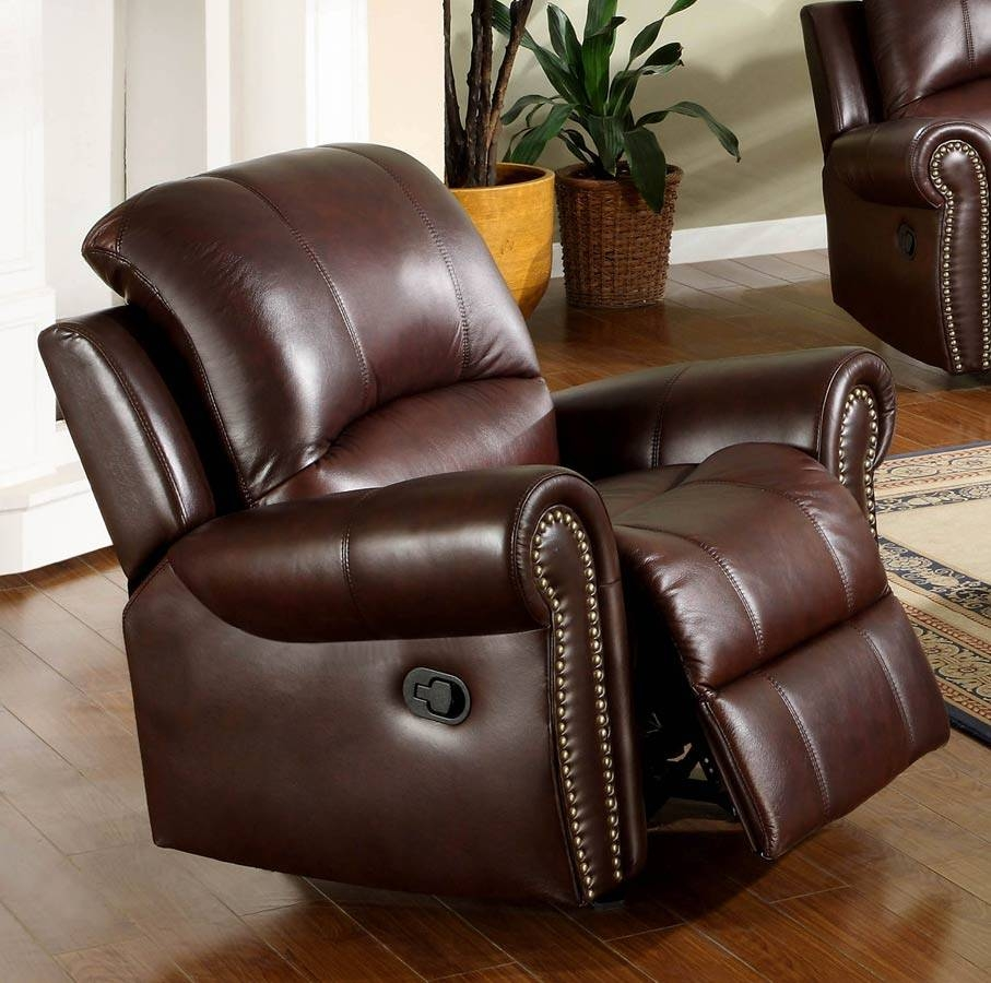 Abbyson Living Broadway Premium Top Grain Leather Reclining Within Abbyson Recliners (View 11 of 15)