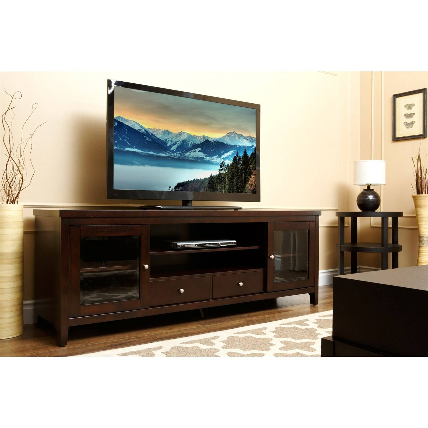 Abbyson Living Hm-5420-1340 Winsome Console Tv Stand In Espresso within Expresso Tv Stands (Image 2 of 15)