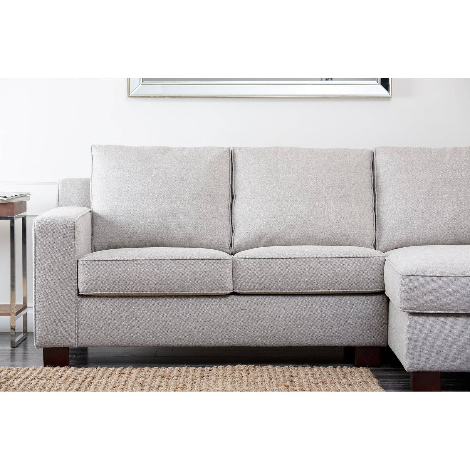 Abbyson Regina Sectional Sofa - Gray | Hayneedle intended for Abbyson Living Sectional Sofas (Image 4 of 15)