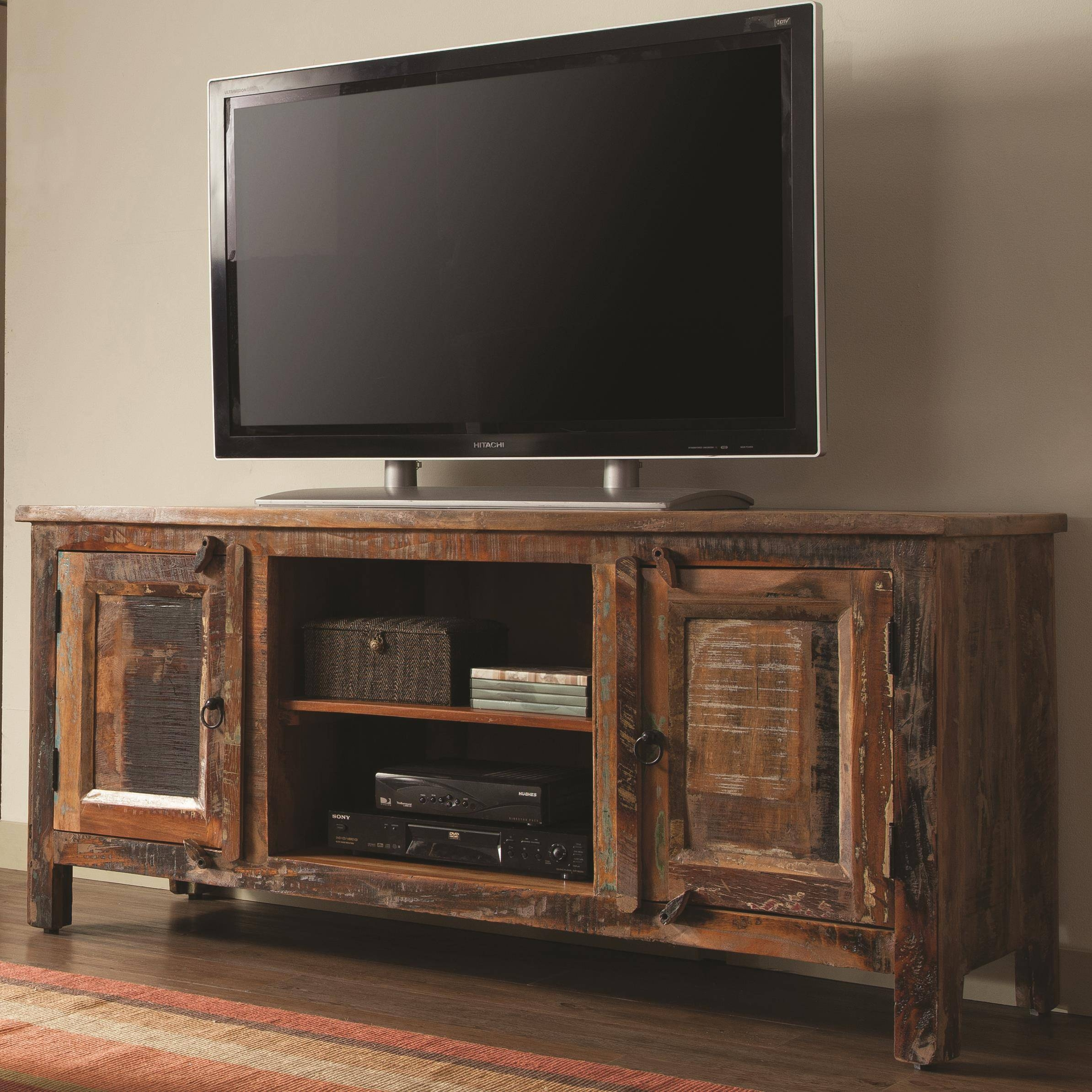 Accent Cabinets Reclaimed Wood Tv Stand | Quality Furniture At pertaining to Recycled Wood Tv Stands (Image 1 of 15)