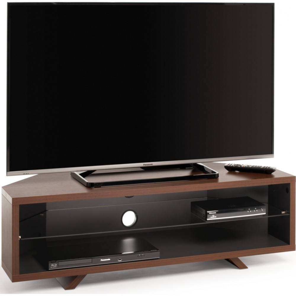 Accommodate All Your A/v Requirements; Suitable For Displays Up To 55 With Regard To Walnut Corner Tv Stands (View 11 of 15)