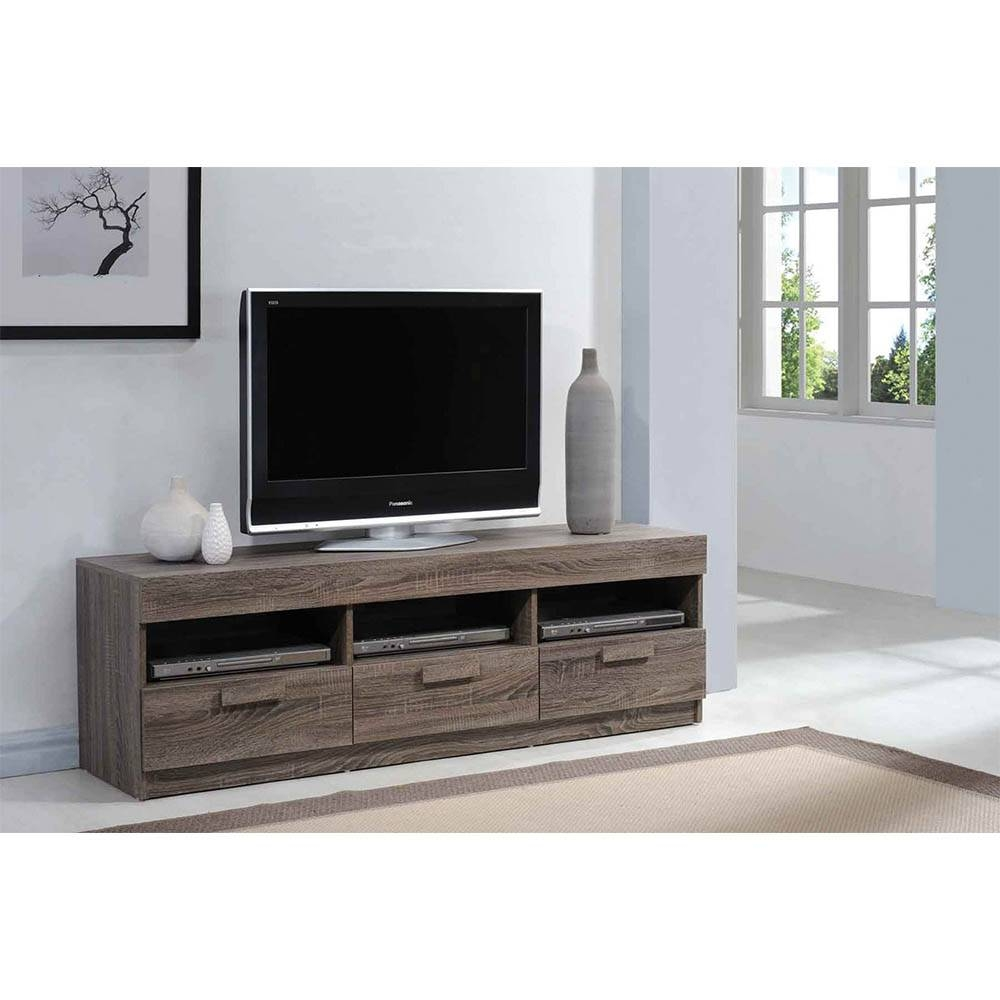 Acme Alvin Rustic Tv Stand Intended For Rustic Tv Stands (View 10 of 15)