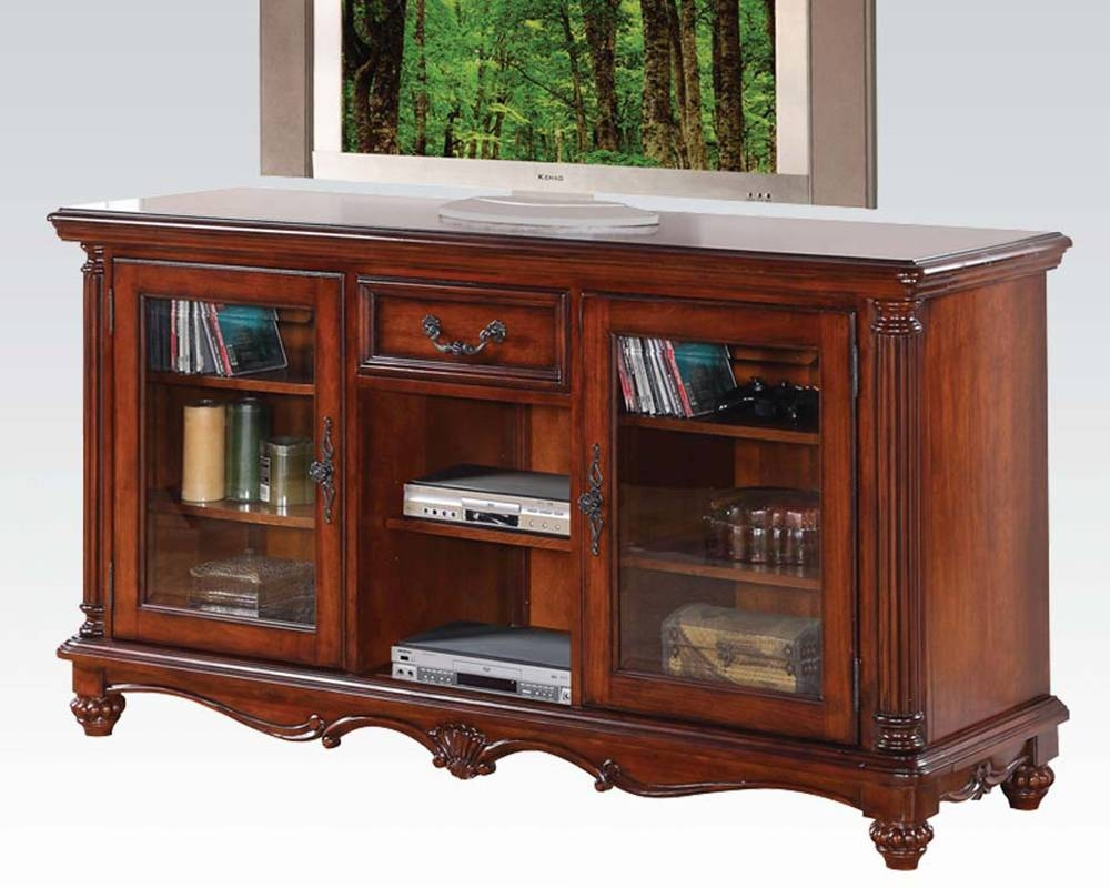 Acme Furniture Tv Stand In Traditional Style Ac91495 Pertaining To Traditional Tv Cabinets (View 7 of 15)