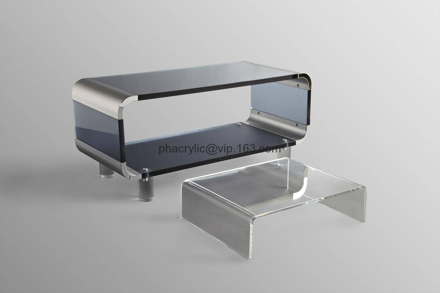 Acrylic Tv Stand, Plexiglass Tv Cabinet, Lucite Tv Stand - Tv802 with Acrylic Tv Stands (Image 3 of 15)