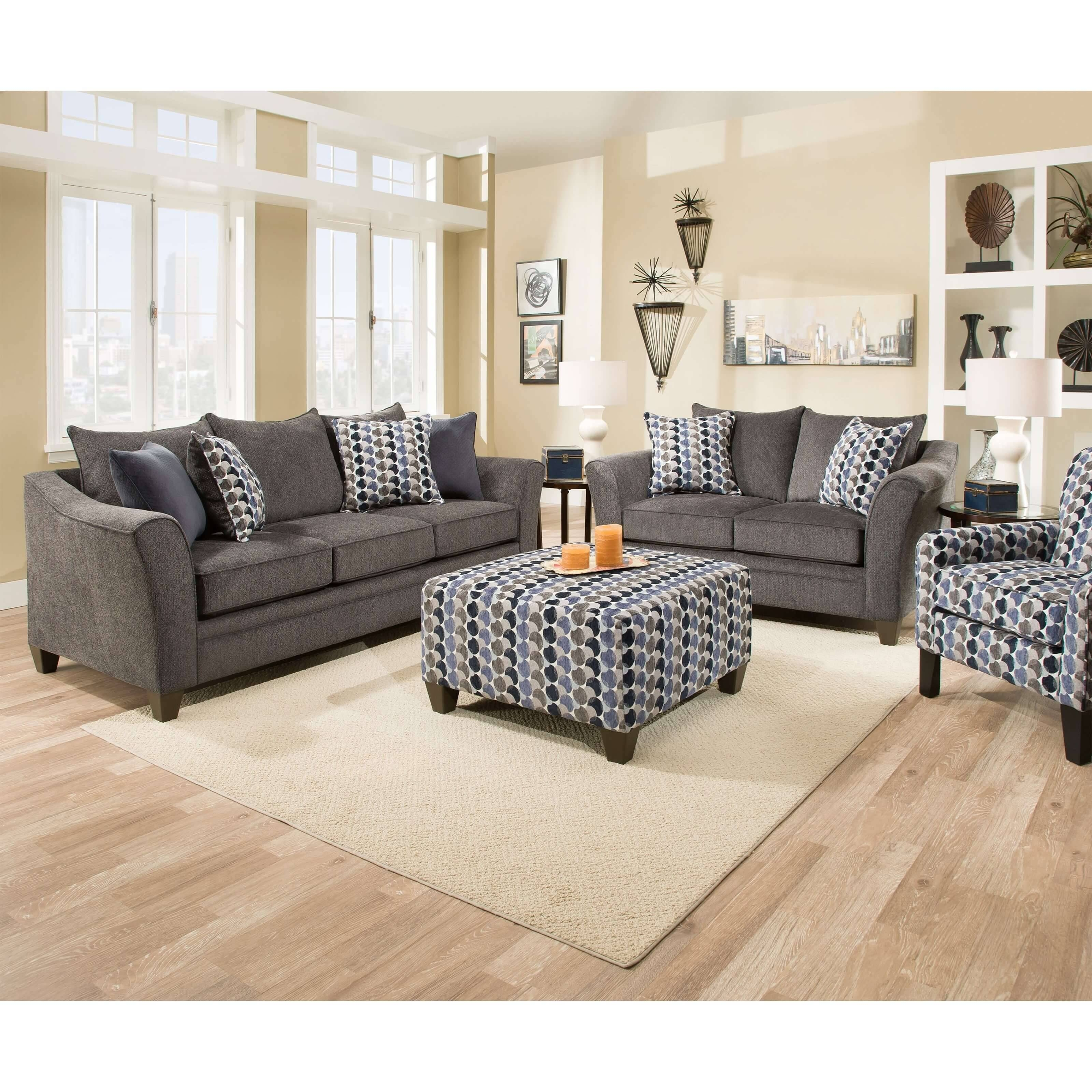 Albany Slate Sofa And Loveseatsimmons for Simmons Sofas And Loveseats (Image 7 of 15)