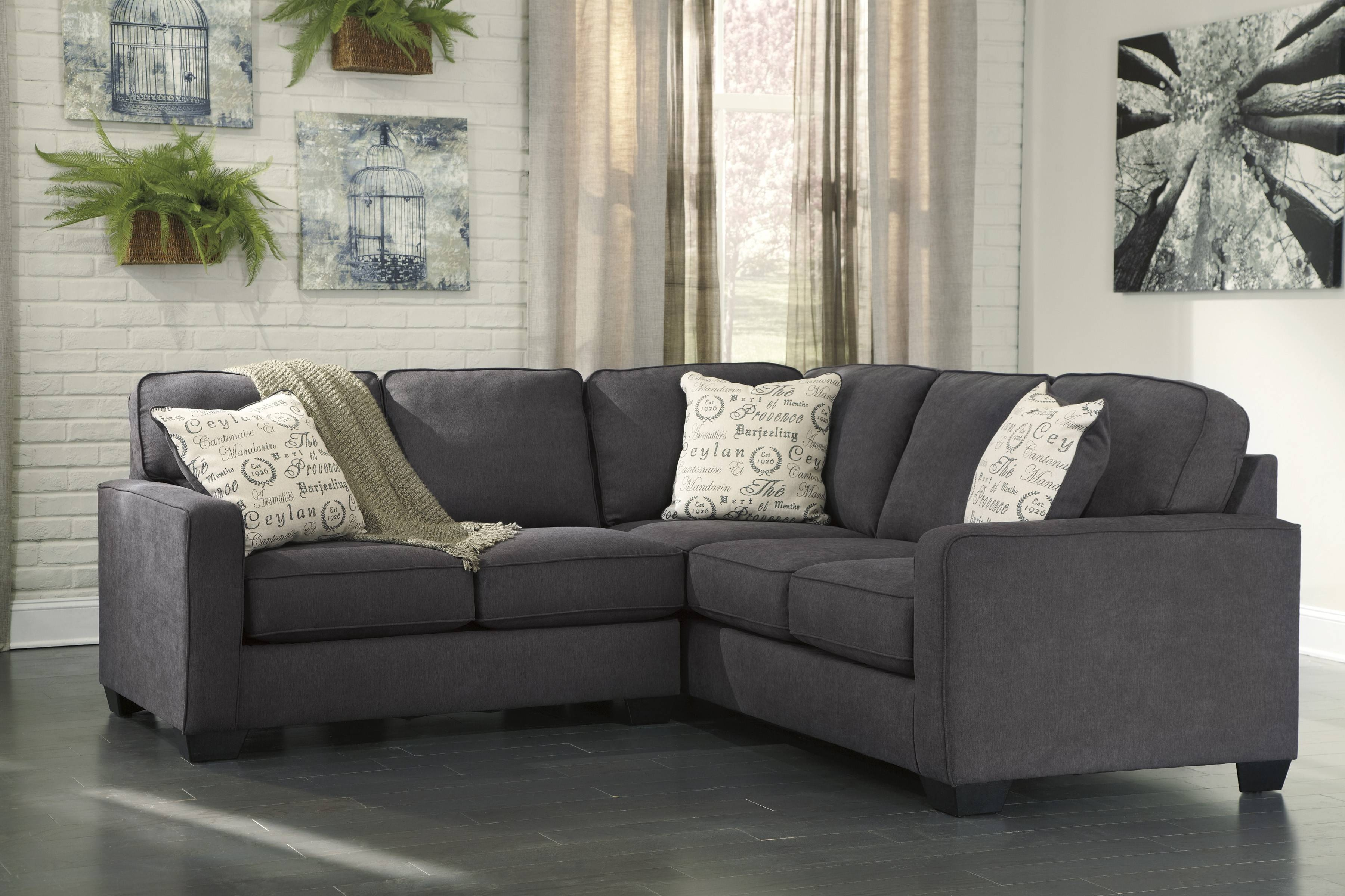 Alenya Charcoal 2-Piece Sectional Sofa For $625.00 - Furnitureusa in 2 Piece Sofas (Image 3 of 15)