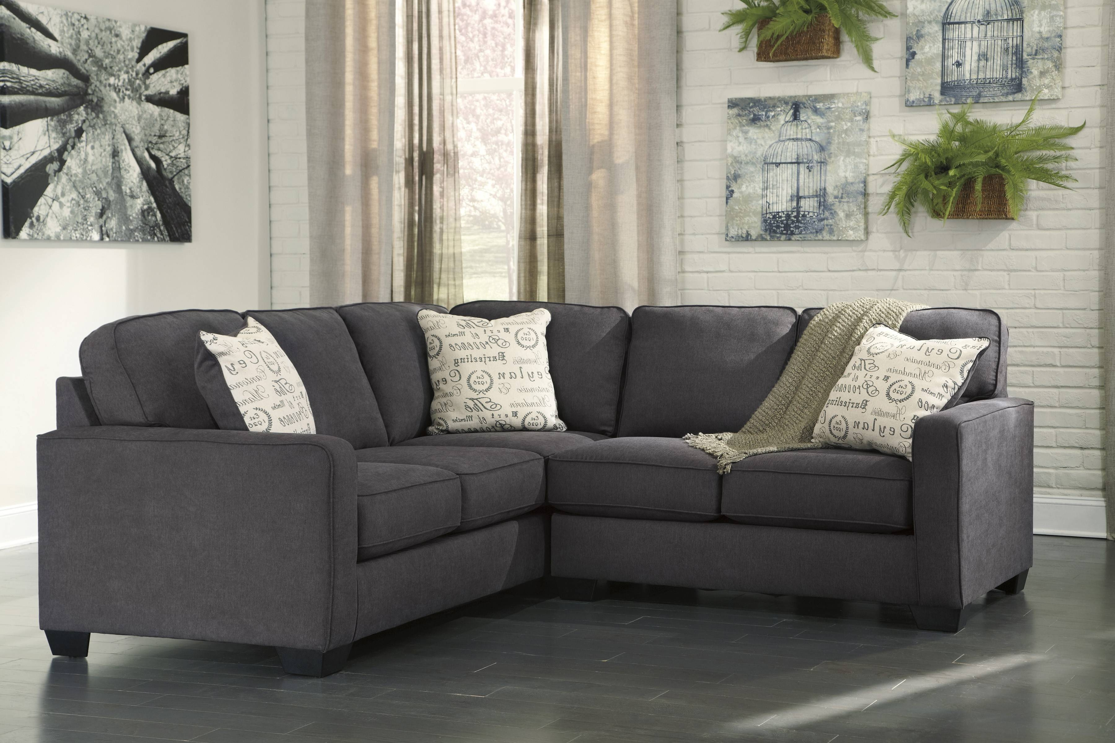 Alenya Charcoal 2-Piece Sectional Sofa For $625.00 - Furnitureusa inside 2 Piece Sofas (Image 4 of 15)