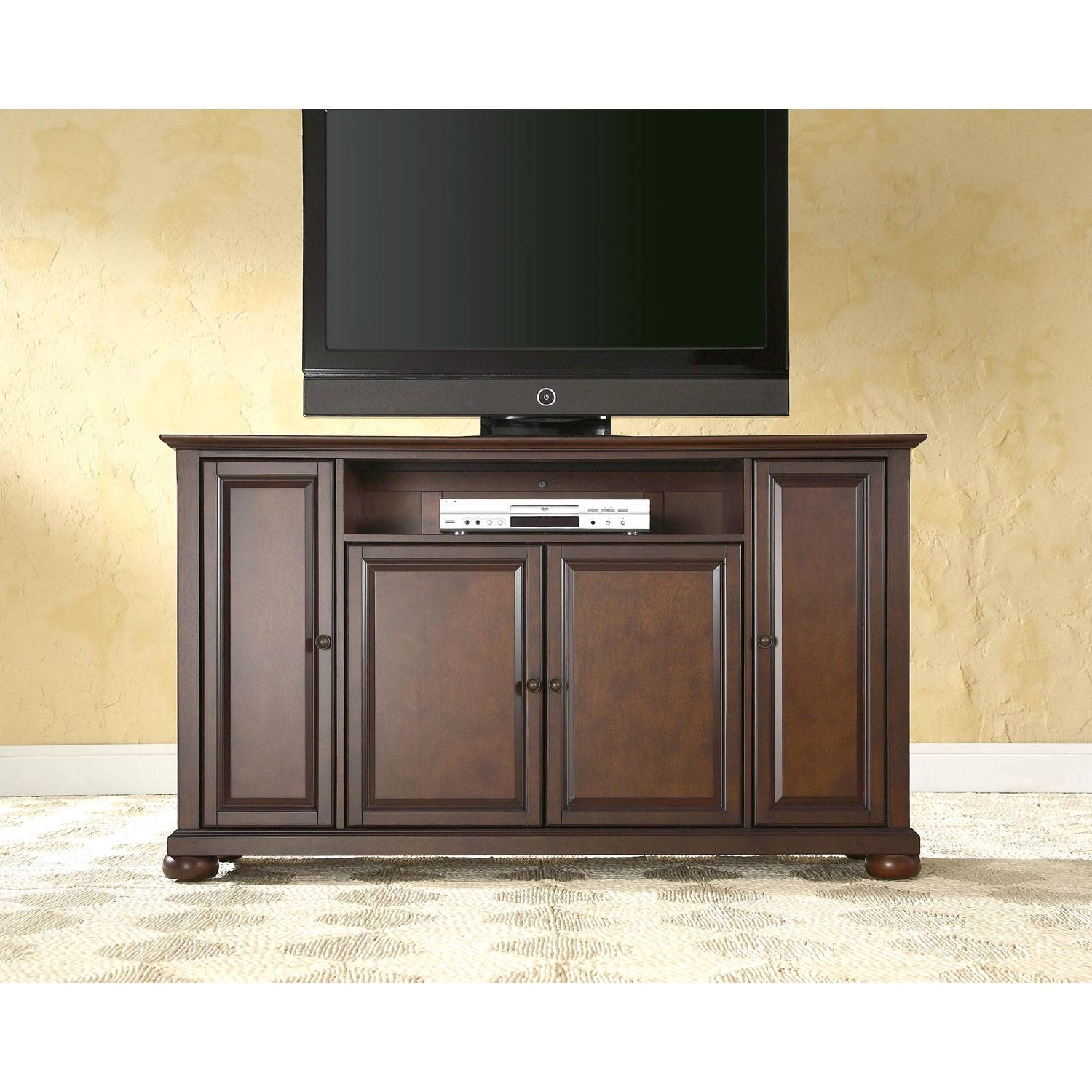 Alexandria 60 Inch Tv Stand In Vintage Mahogany Finish Crosley For Vintage Tv Stands For Sale (View 15 of 15)